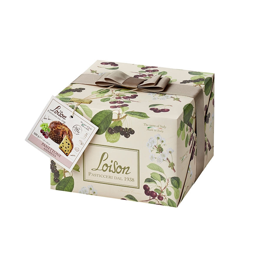 Loison Panettone with Amarena Cherries 500g Ingredients Chocolate Bars & Confectionery Italian Food Panettone & Pandoro