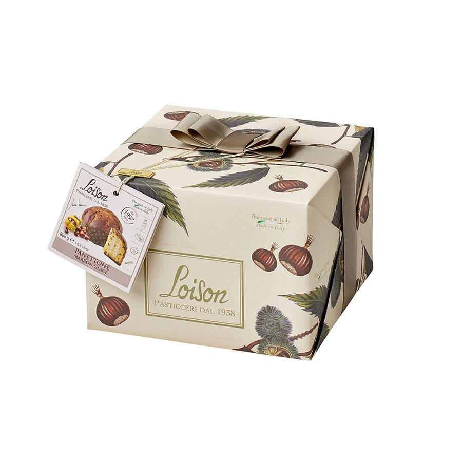 Loison Panettone with Marron Glace 600g Ingredients Chocolate Bars & Confectionery Italian Food Panettone & Pandoro