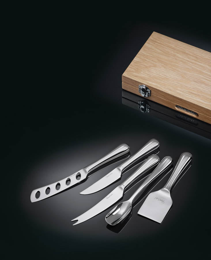Radford Gourmet Cheese Knife Set in Oak Box