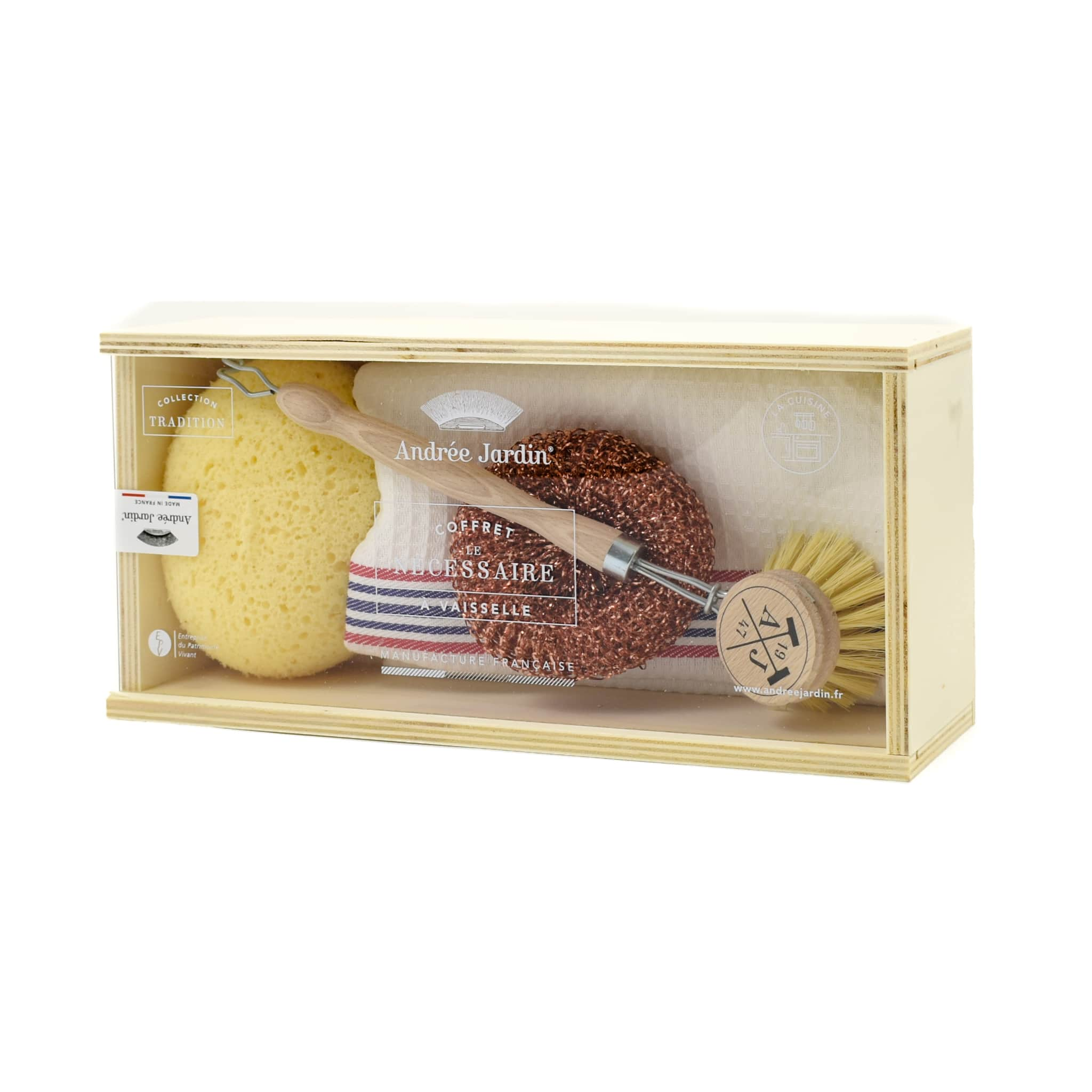Andree Jardin Dishwashing Gift Box with Copper Ball