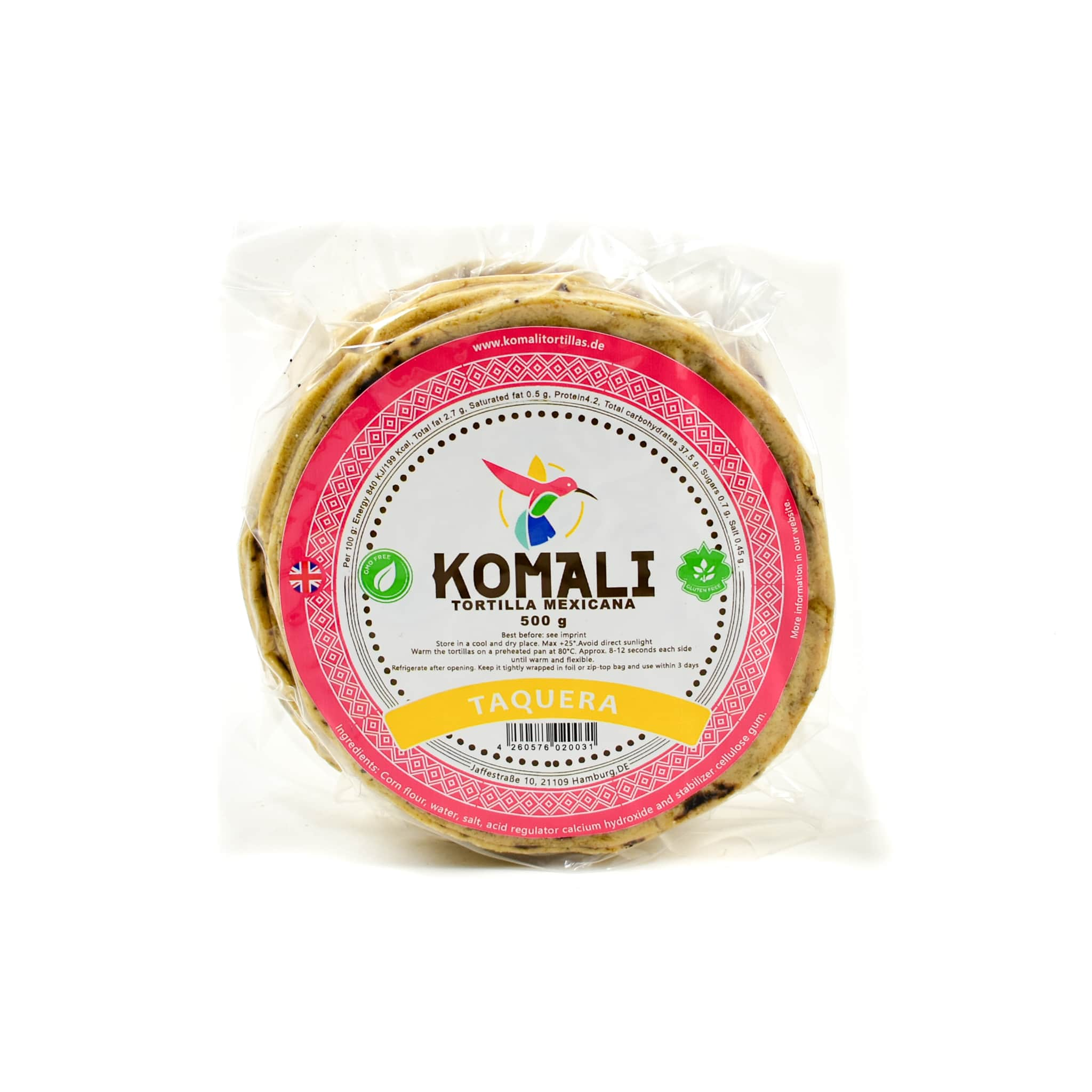 Komali Tortilla Taquera 12cm 500g Mexican Food and Cooking