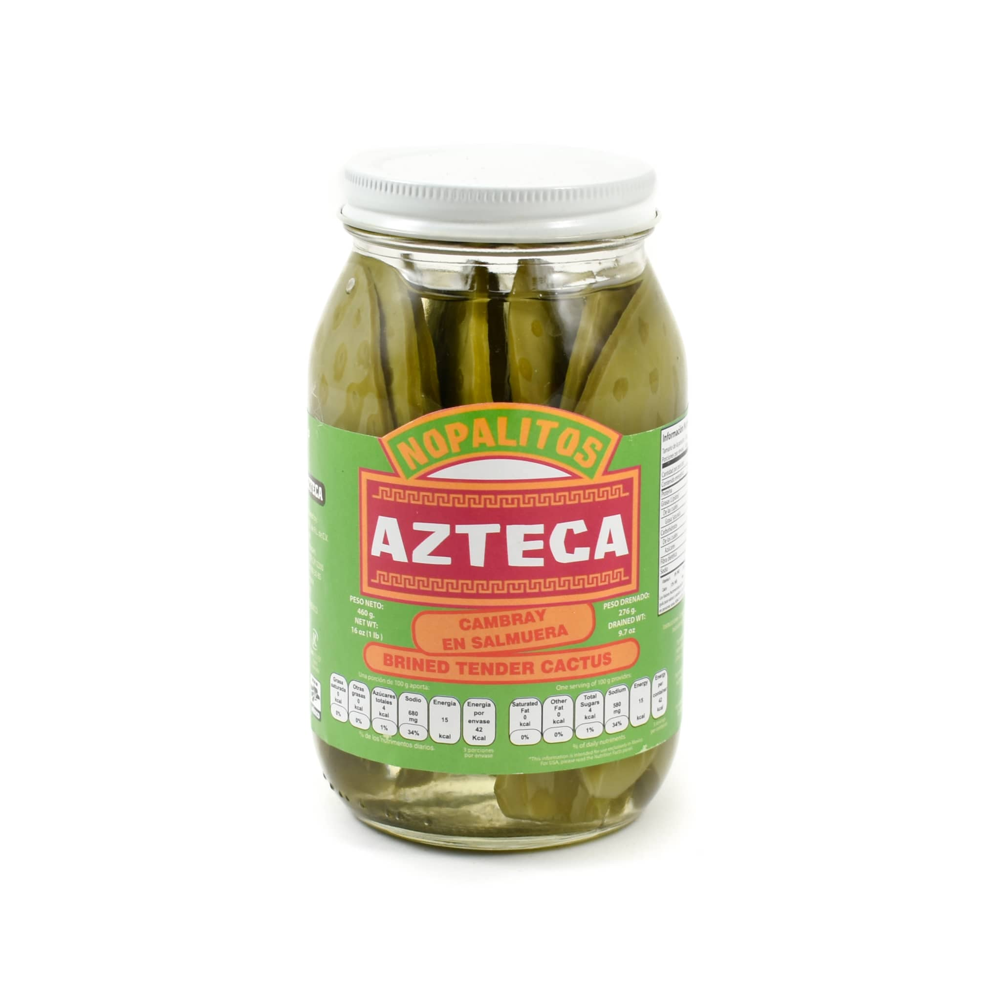 Azteca Cambray Whole Cactus Leaves 460g Mexican Food and Cooking