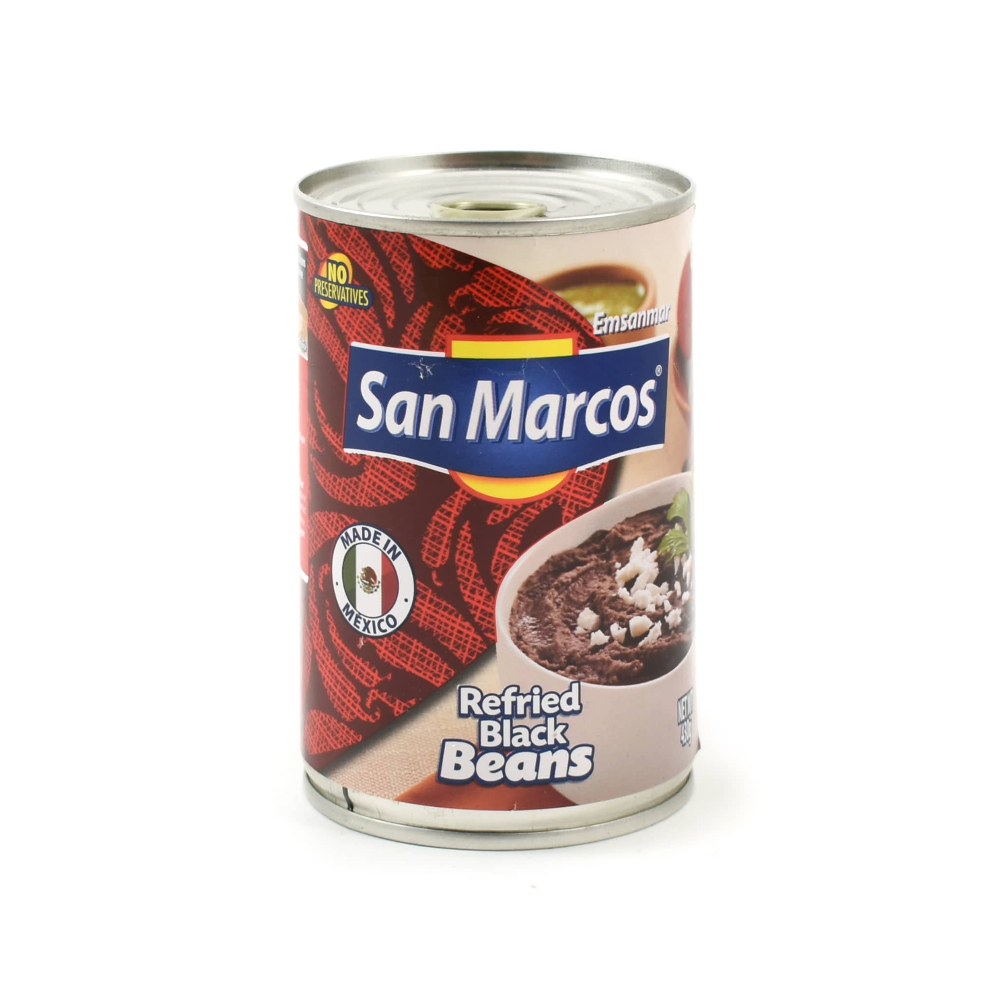 San Marcos Frijoles Refritos Negros Refried Beans 430g Mexican Food and Cooking