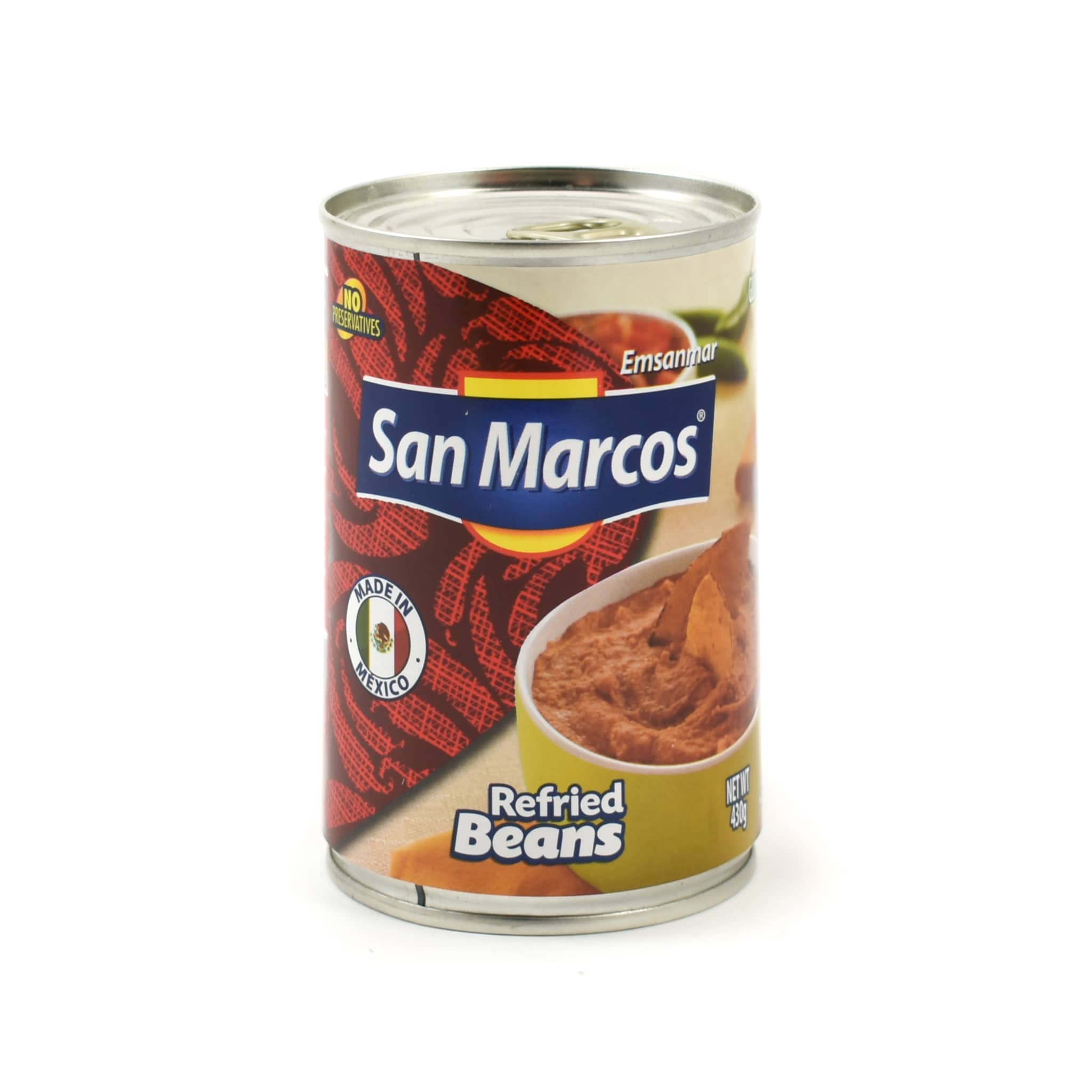 San Marcos Frijoles Refritos Bayos Refried Beans 430g Mexican Food and Cooking