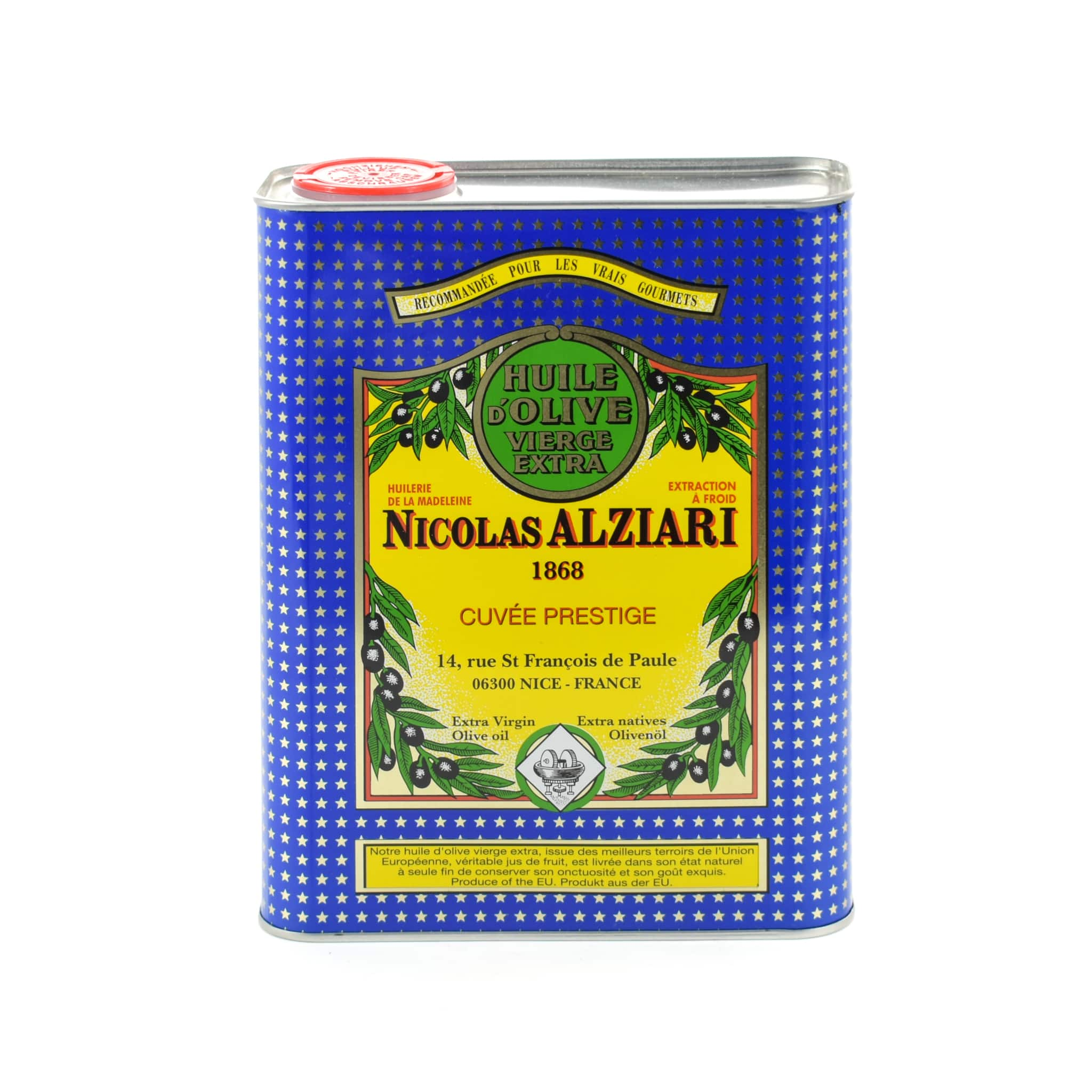 Nicolas Alziari Fruity Soft Provence Olive Oil Oils and Vinegars French Food & Recipes