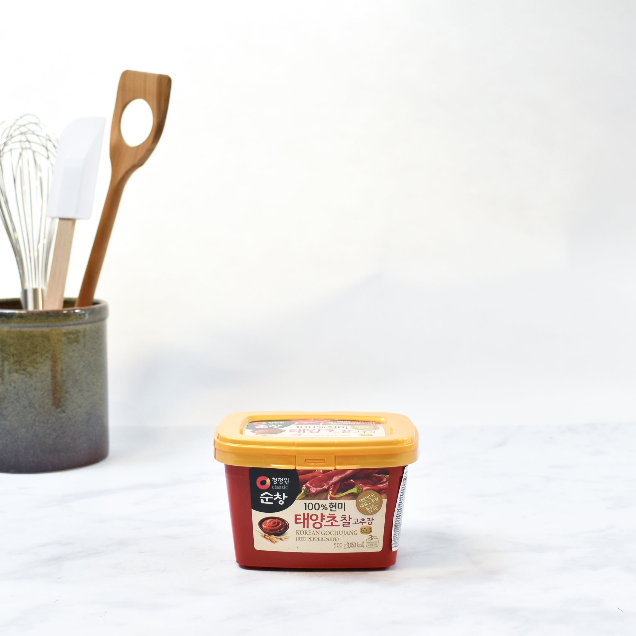 Gochujang Hot Pepper Paste 500g Sauces & Condiments Korean Food & Recipes Lifestyle Pack Shot