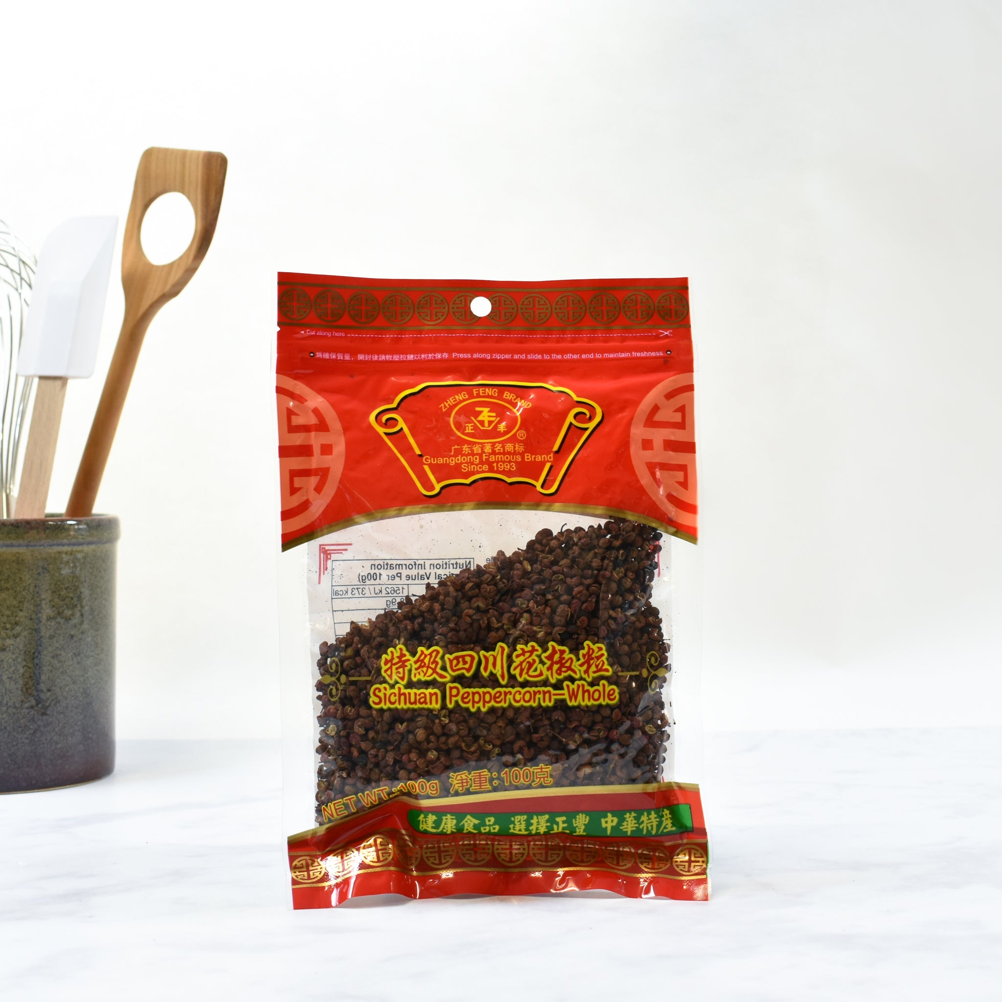 Brotherhood Sichuan Pepper 100g Ingredients Seasonings Chinese Food Lifestyle packaging shot