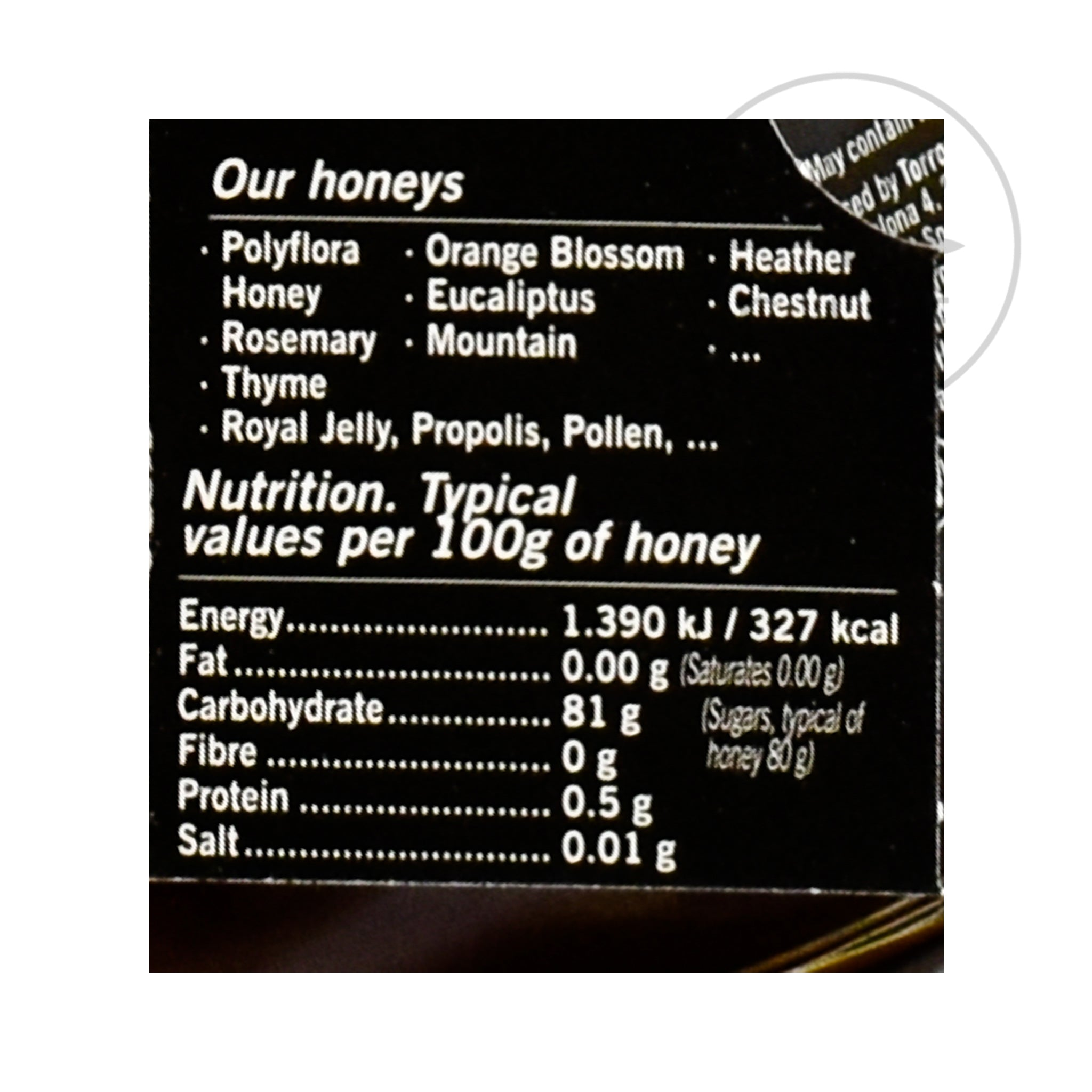Alemany Chestnut Honey 250g Ingredients Jam Honey & Preserves Spanish Food Nutritional Information