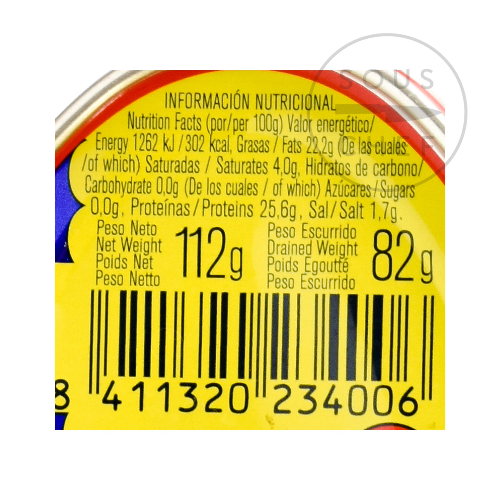 Ortiz Bonito Tuna 115g Ingredients Seaweed Squid Ink Fish Spanish Food Nutritional Information