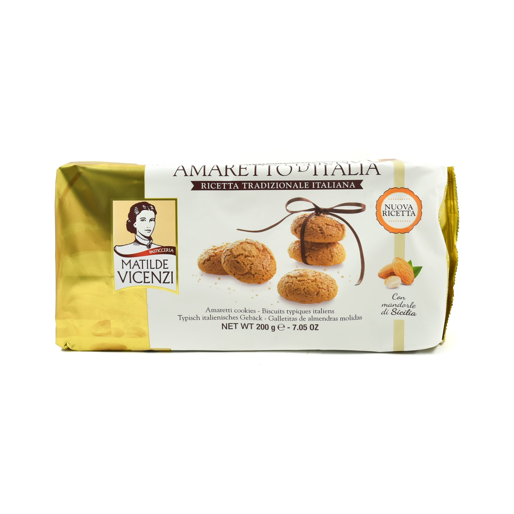 Matilde Vicenzi Amaretti Biscuits 200g Ingredients Chocolate Bars & Confectionery Italian Food