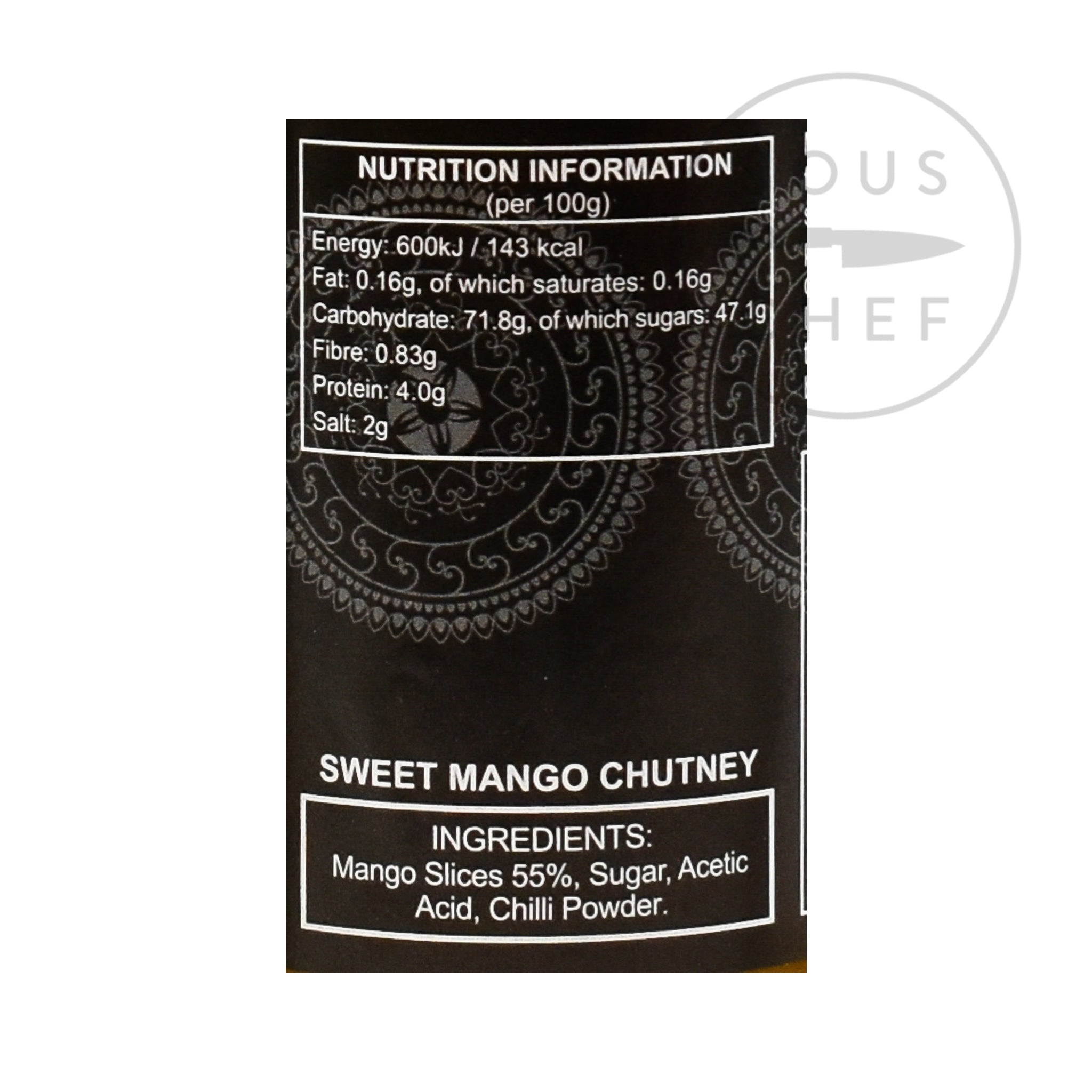Ferns' Sweet Mango Chutney 440g nutritional information ingredients