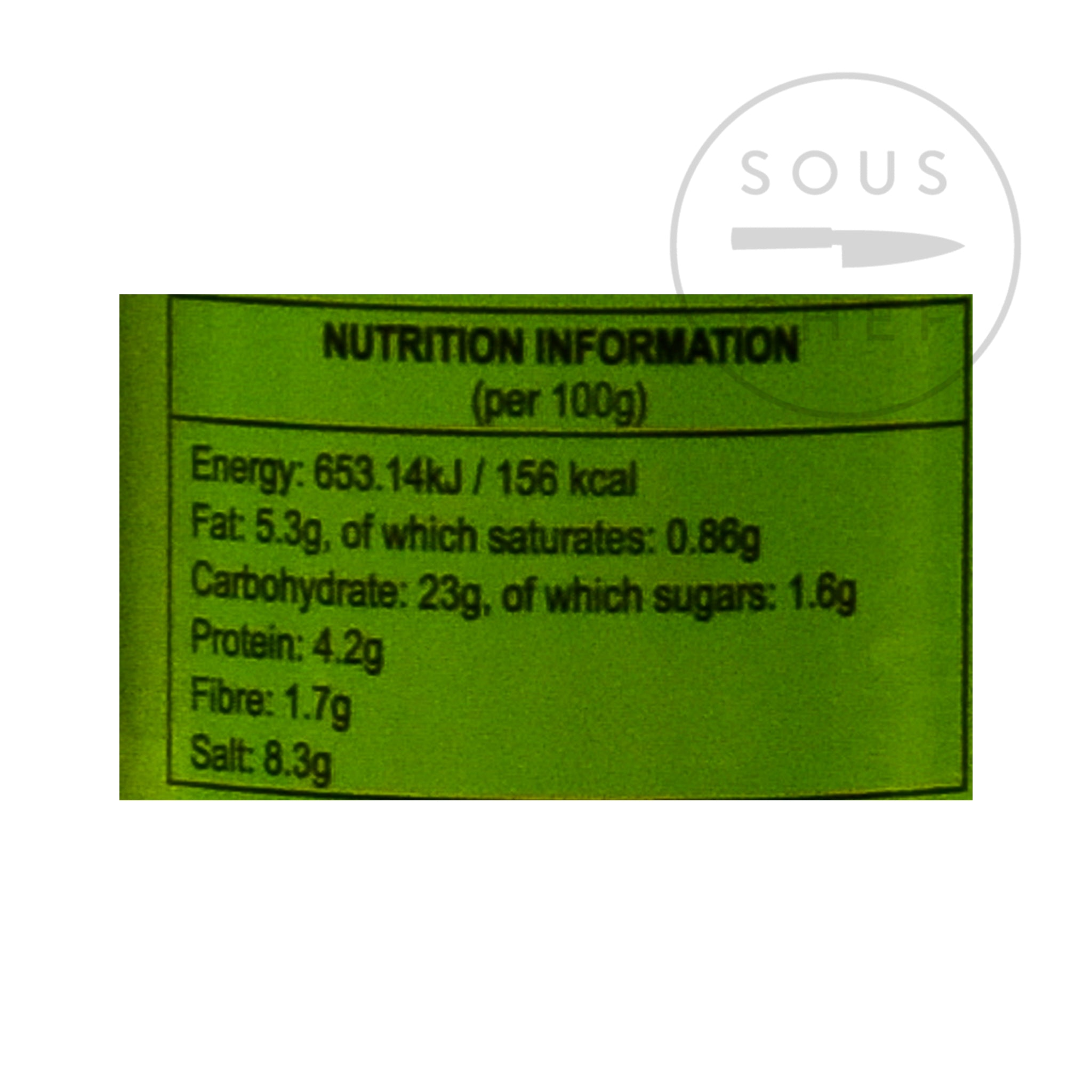 Ferns' Hot Curry Paste 380g nutritional information