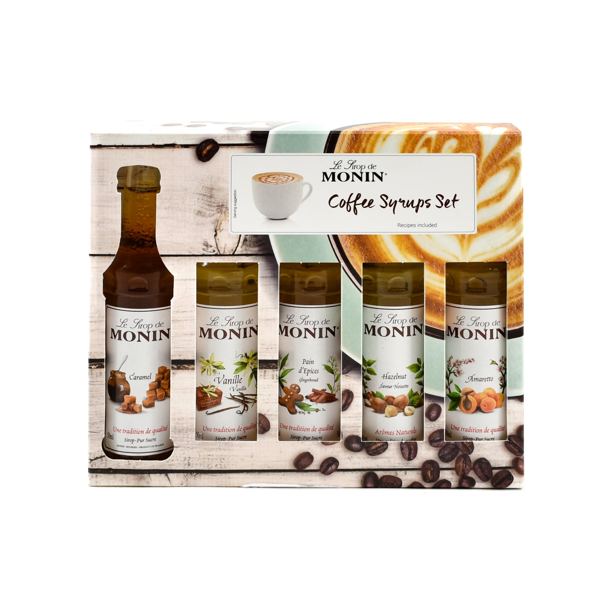 Monin Coffee Syrup Set 5 x 50ml Ingredients Drinks Syrups & Concentrates French Food