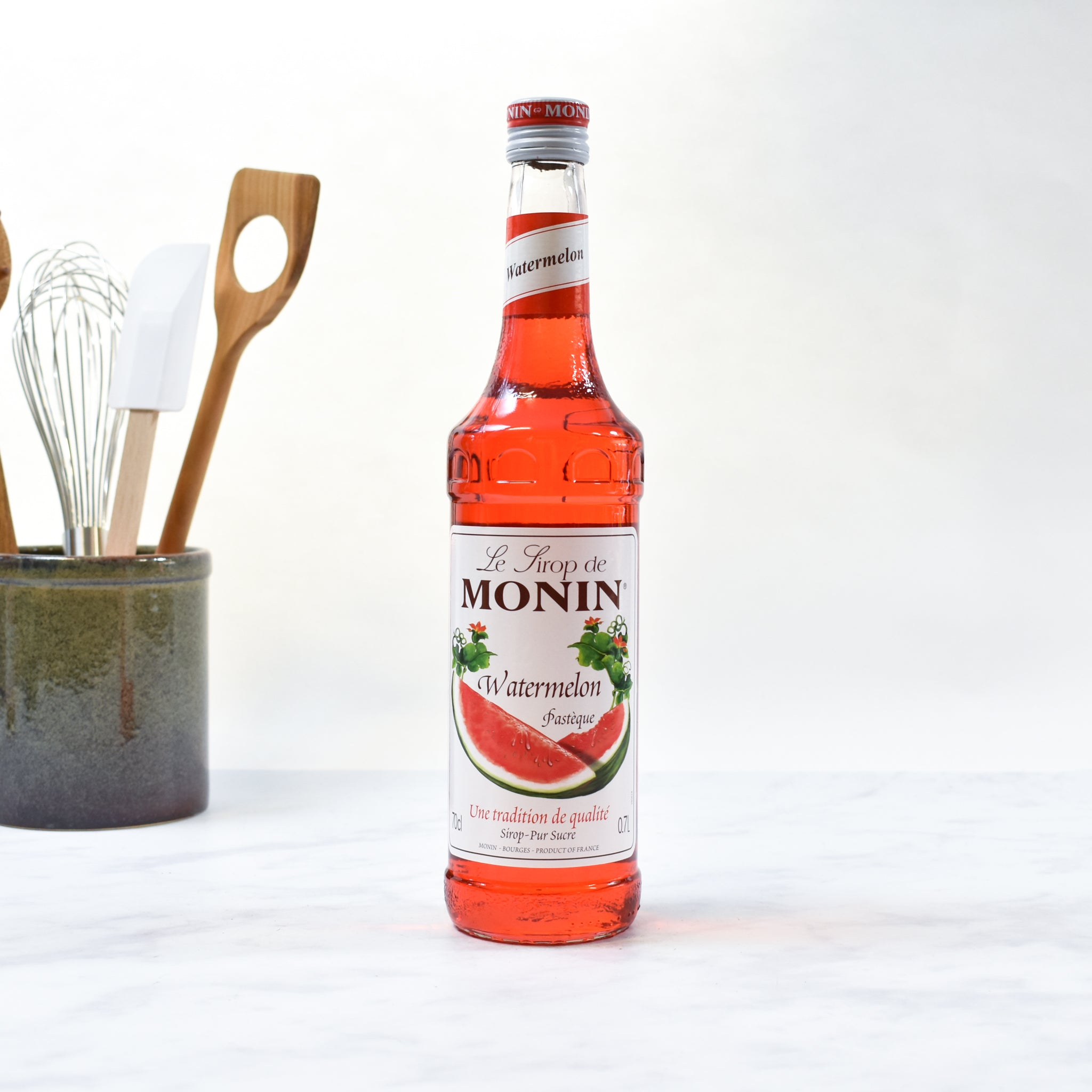 Monin Watermelon Syrup 70cl lifestyle photograph
