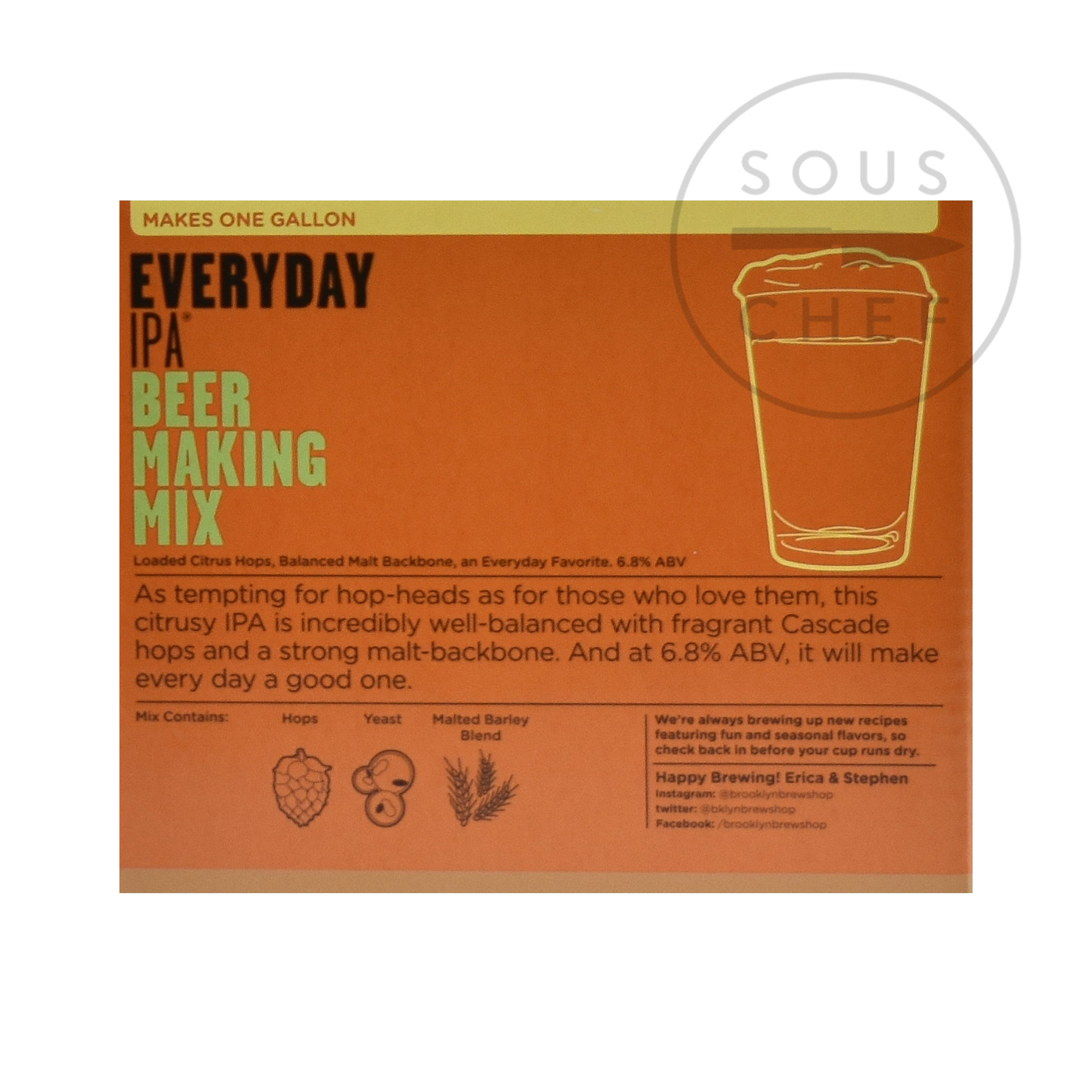 Brooklyn Brew Shop Everyday IPA Mix ingredients