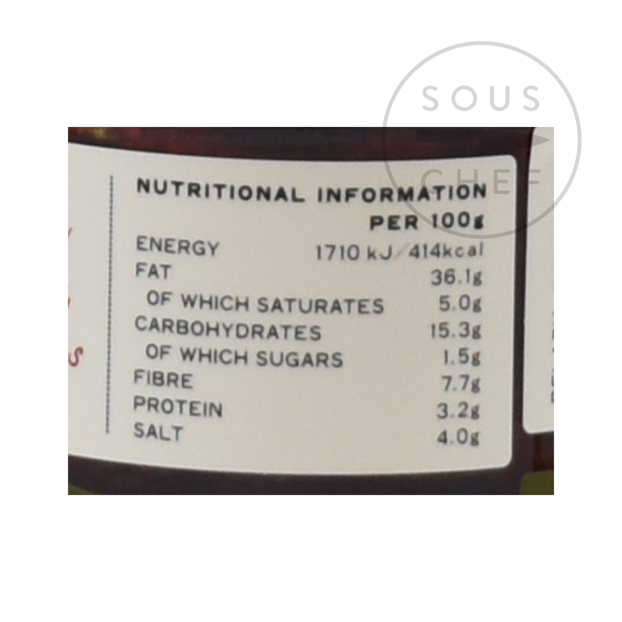 Belazu Rose Harissa 170g nutritional information