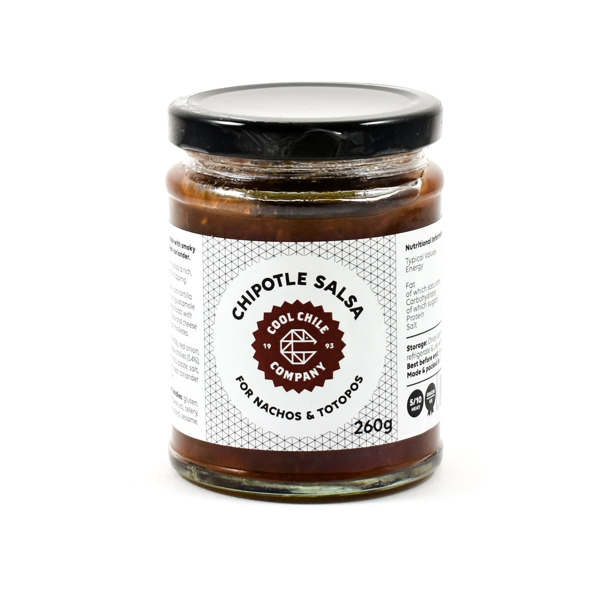 Cool Chile Co Chipotle Salsa 260g Ingredients Sauces & Condiments American Sauces & Condiments