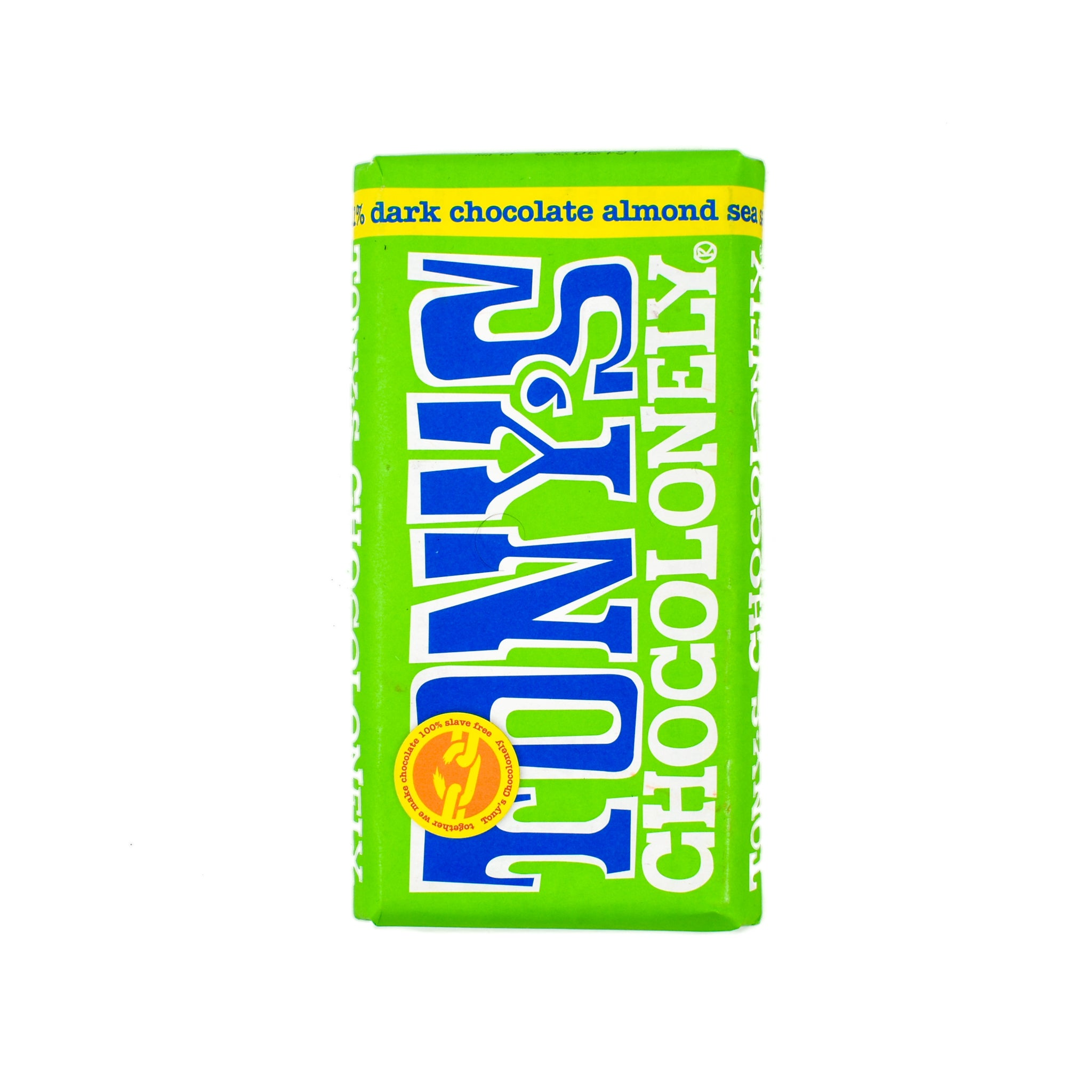 Tony's Chocolonely Dark Chocolate Almonds & Sea Salt 180g Ingredients Chocolate Bars & Confectionery