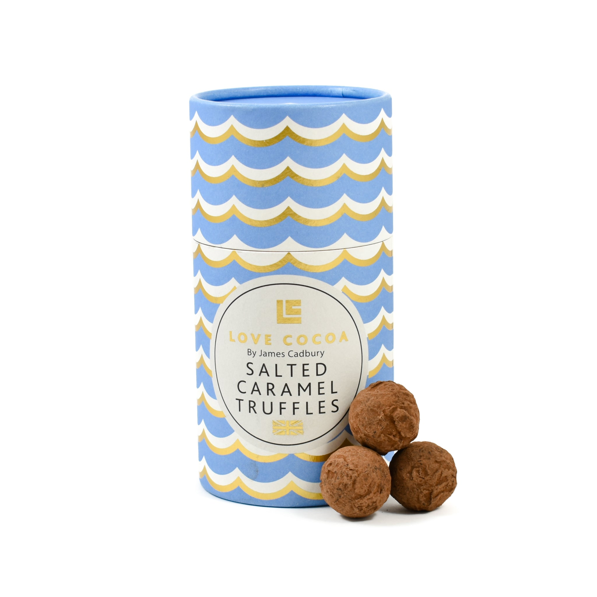 Love Cocoa Salted Caramel Truffles Luxury Gift Box 150g Ingredients Chocolate Bars & Confectionery