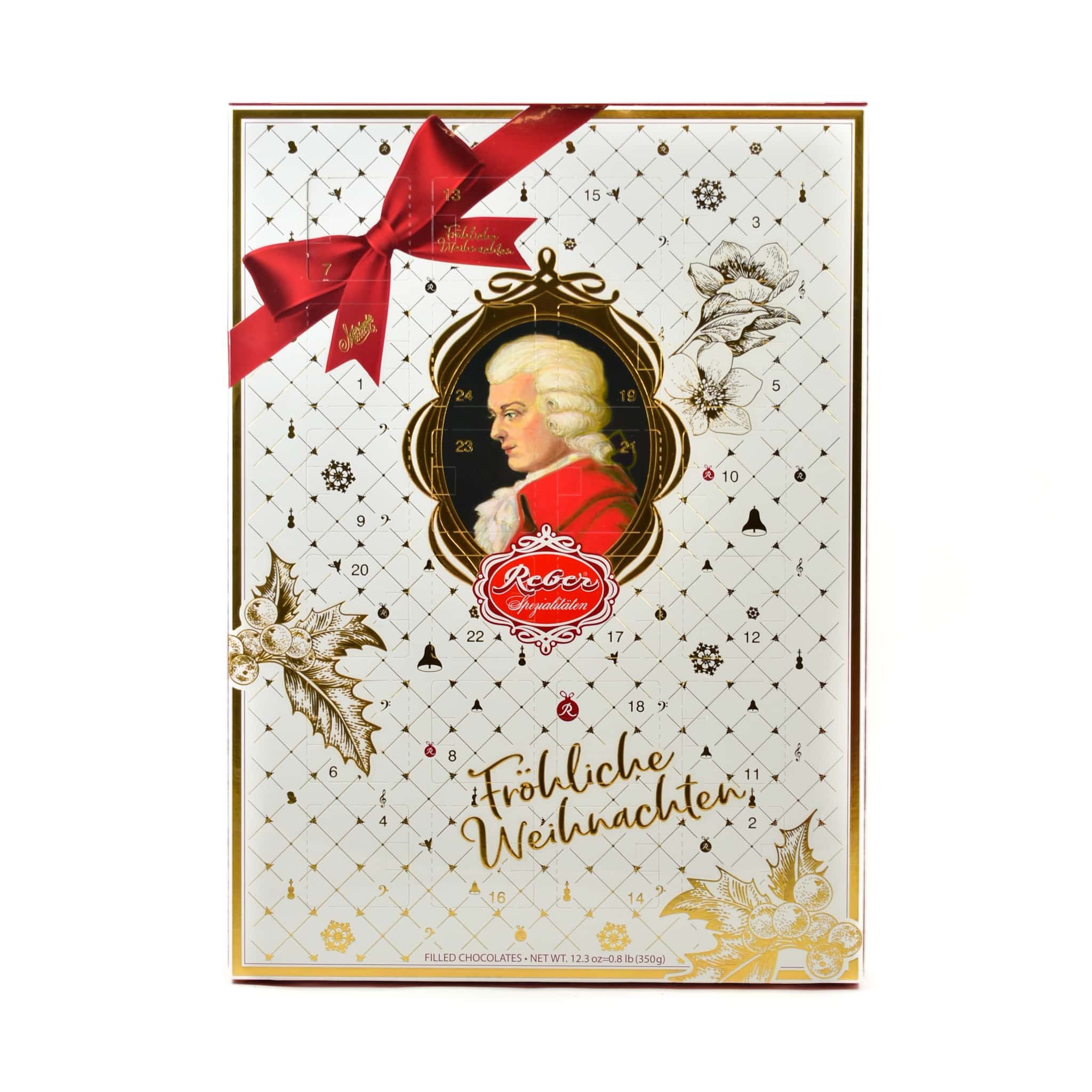 Mozart Marzipan Advent Calendar 350g Ingredients Chocolate Bars & Confectionery