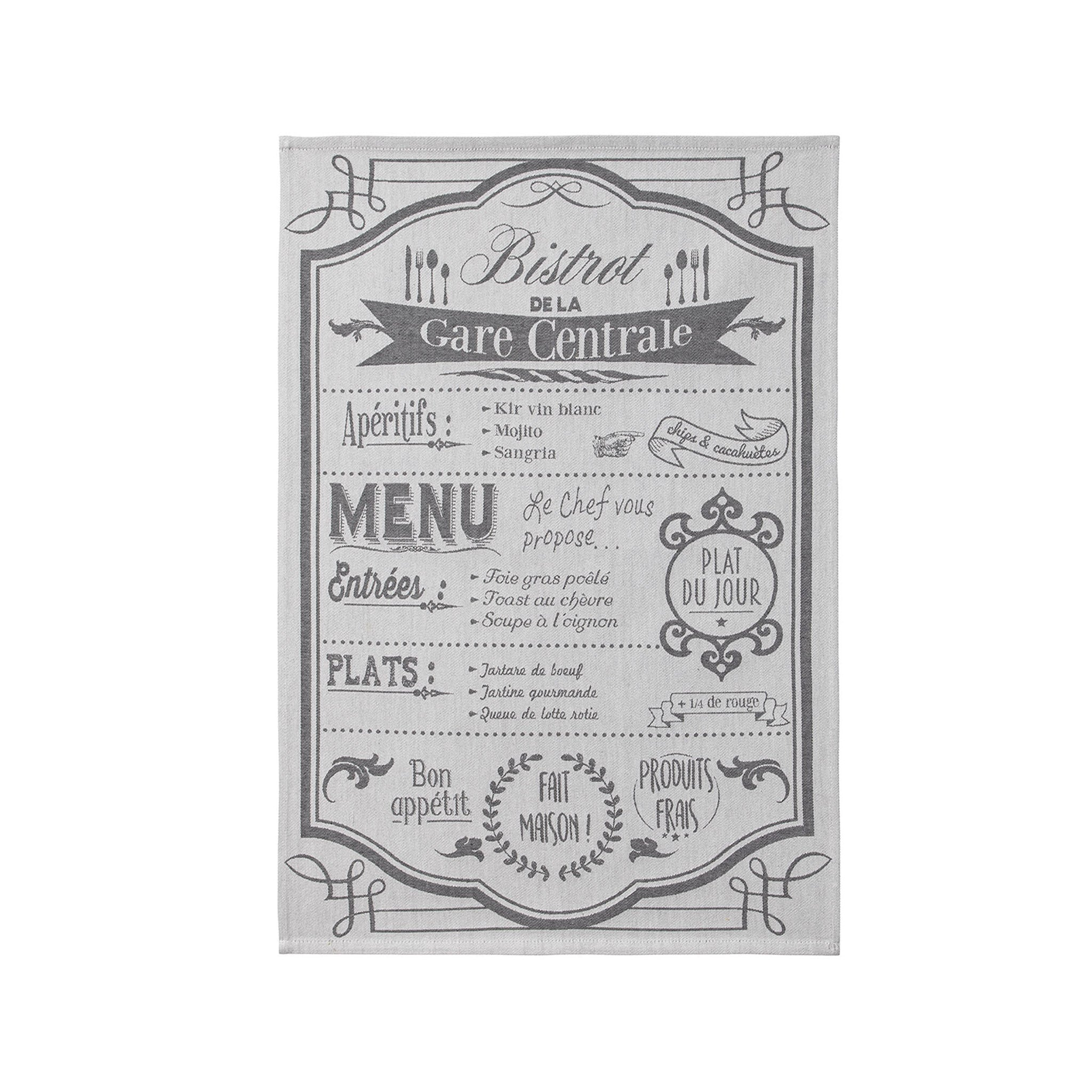 Au Menu Tea Towel