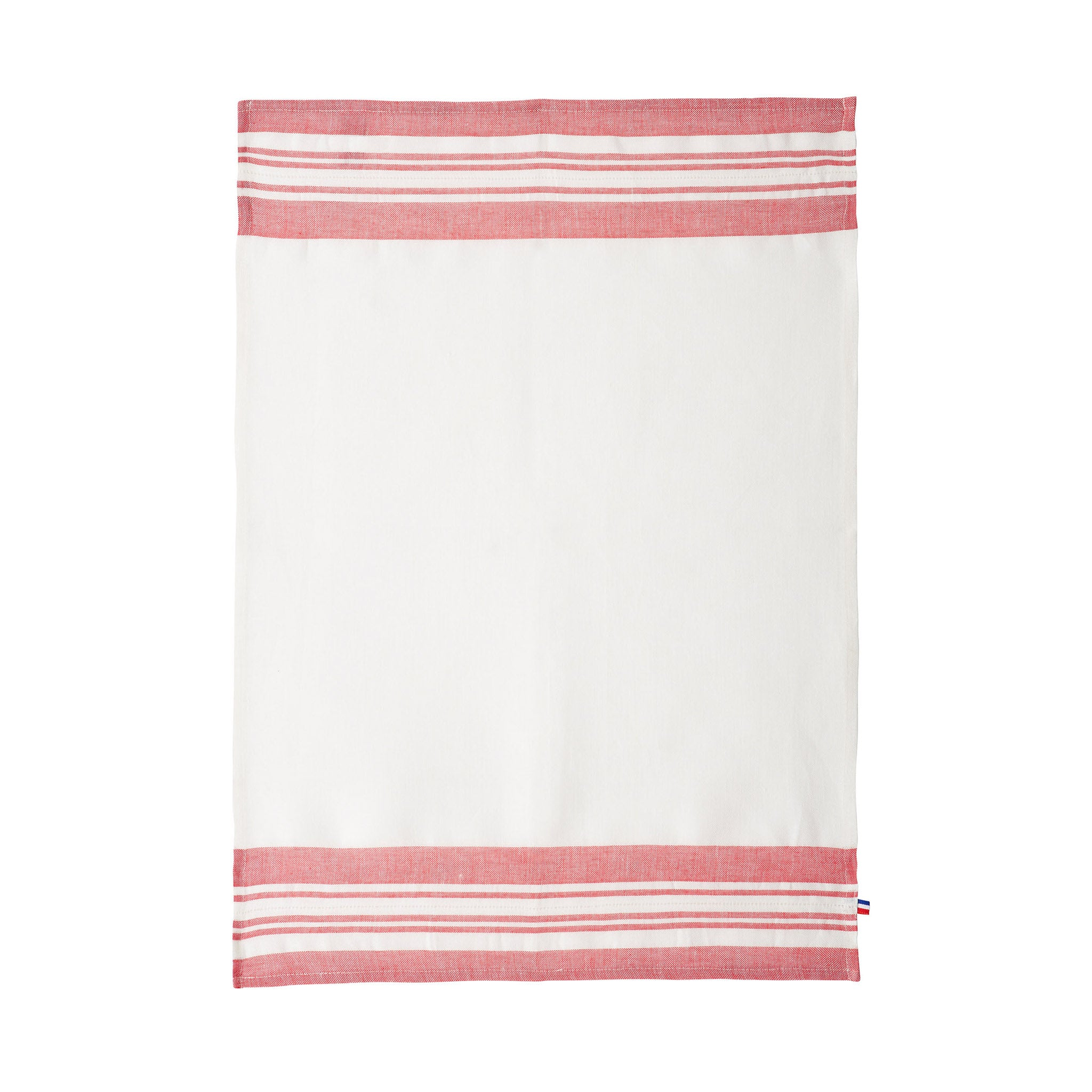 French Linen Tea Towel - Red