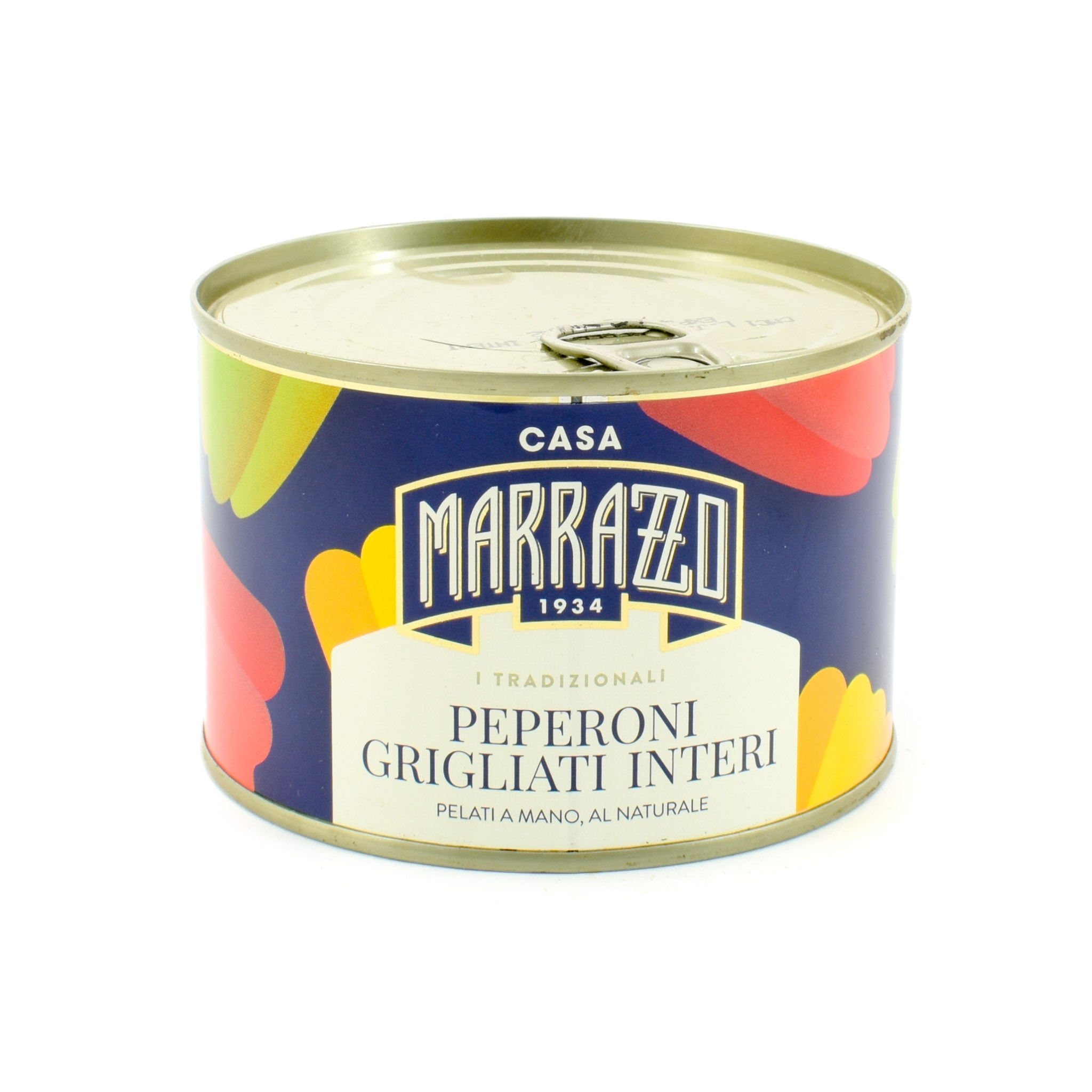 Casa Marrazzo Whole Grilled Hand-Peeled Peppers in Brine 420g