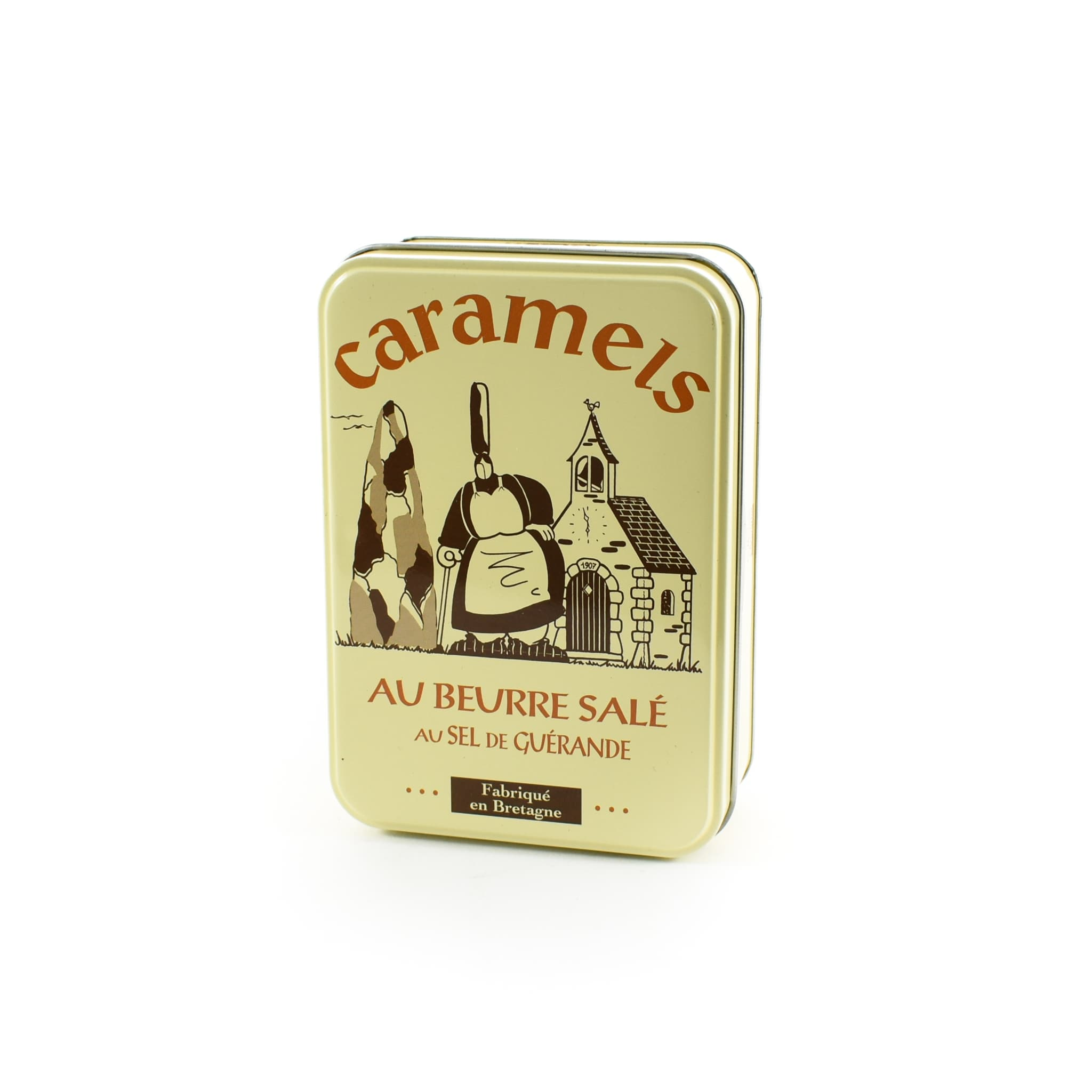 French Salted Butter Caramels in Gift Tin 150g
