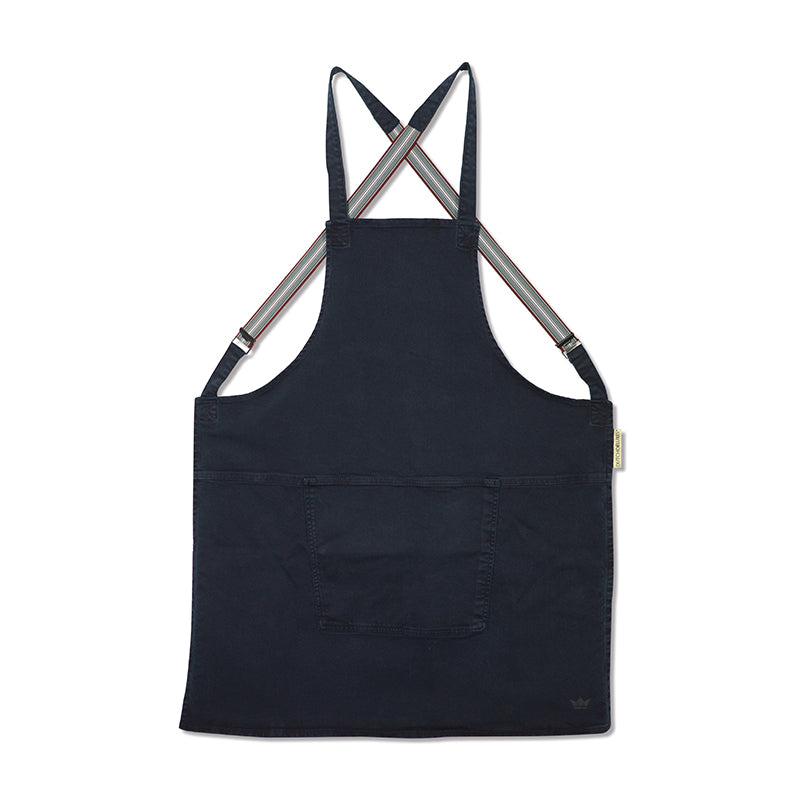 Dutchdeluxes Canvas Suspender Apron in Dark Blue Cookware Kitchen Clothing