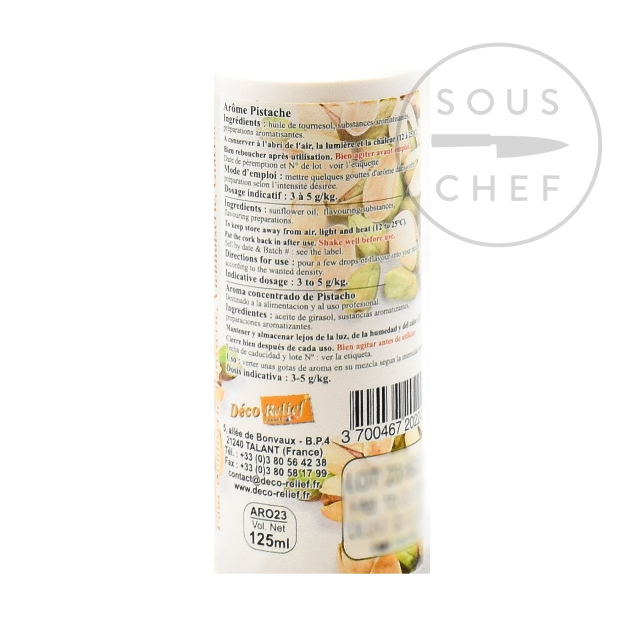 Concentrated Pistachio Flavour 125ml ingredients