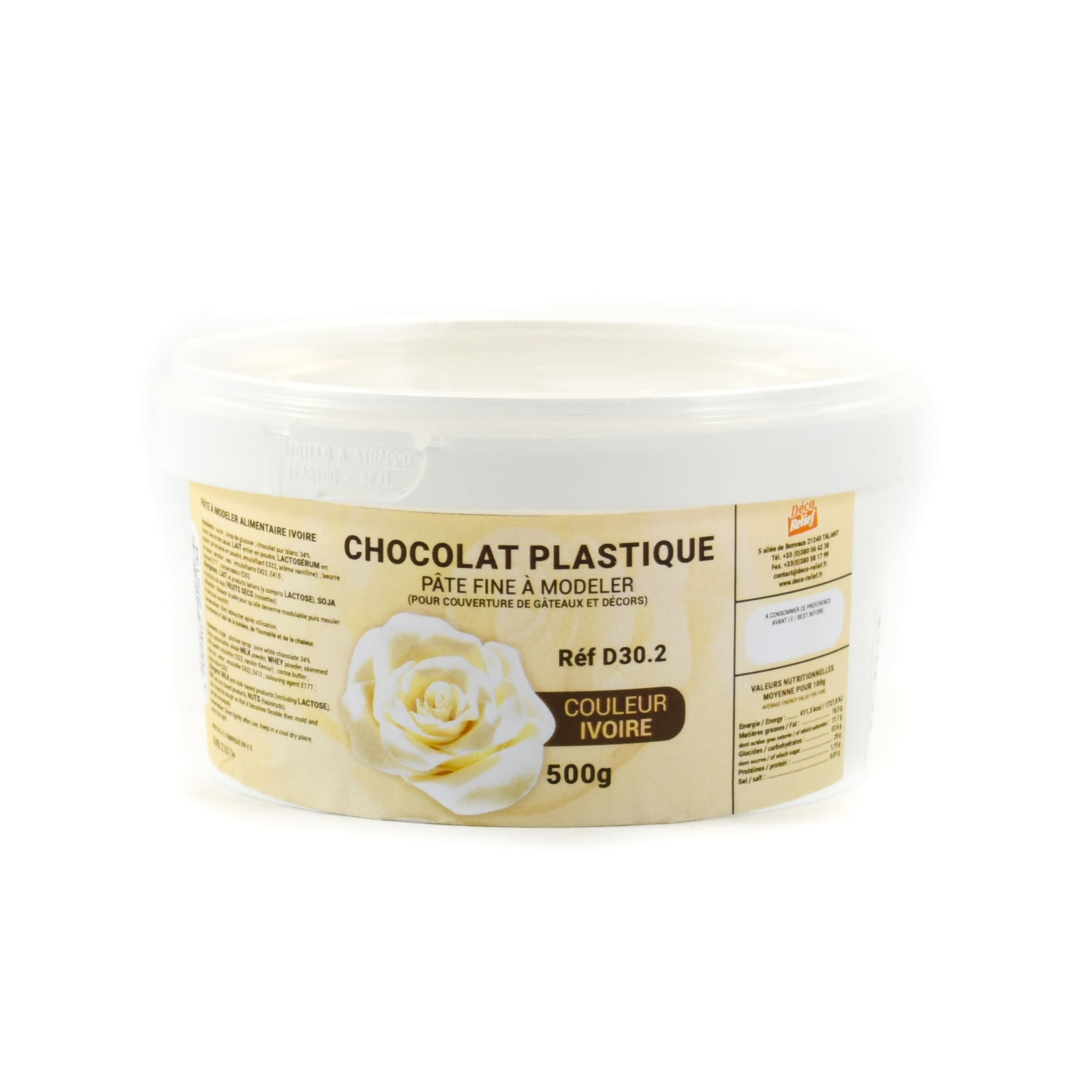 Ivory Chocolate Plastique - Modelling Chocolate 500g