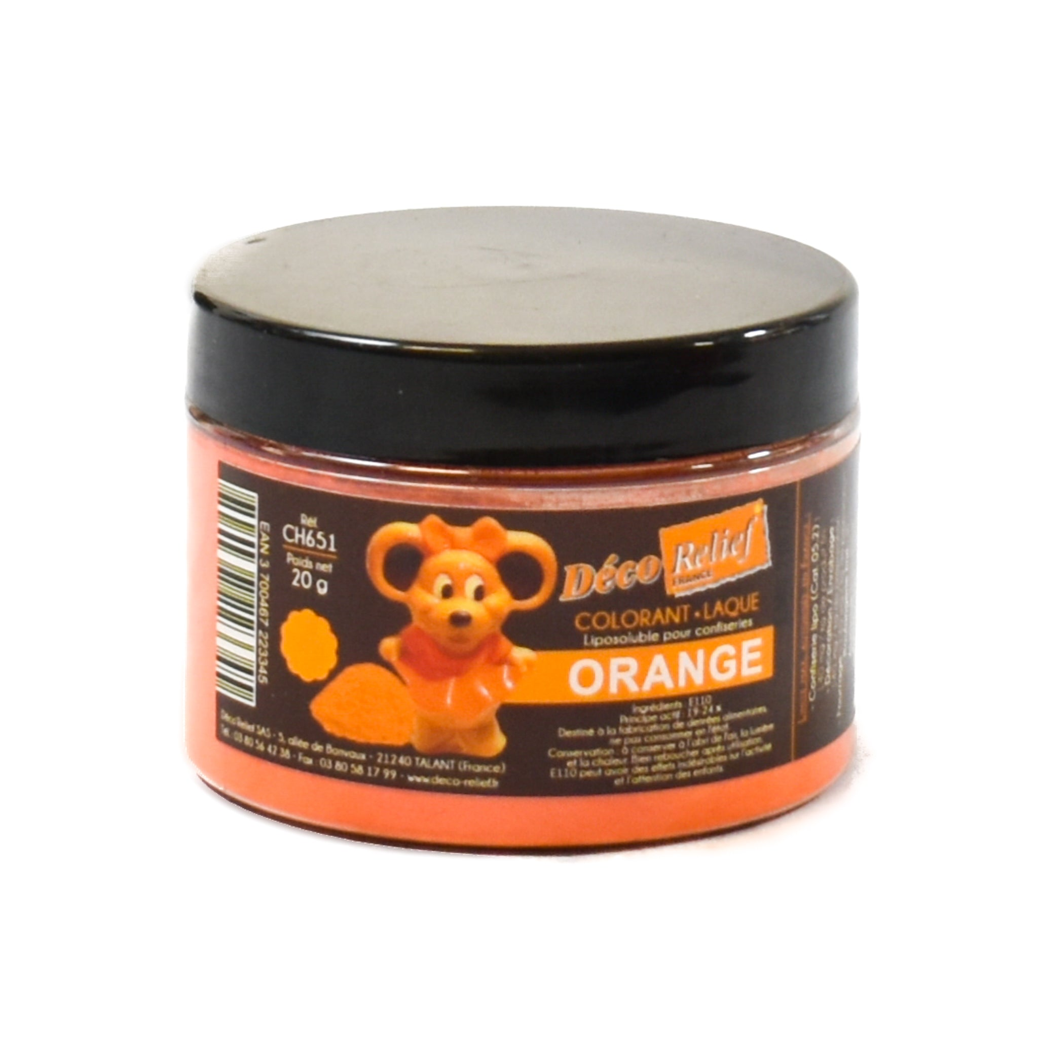 Orange Gloss Food Colour For Chocolate 20g