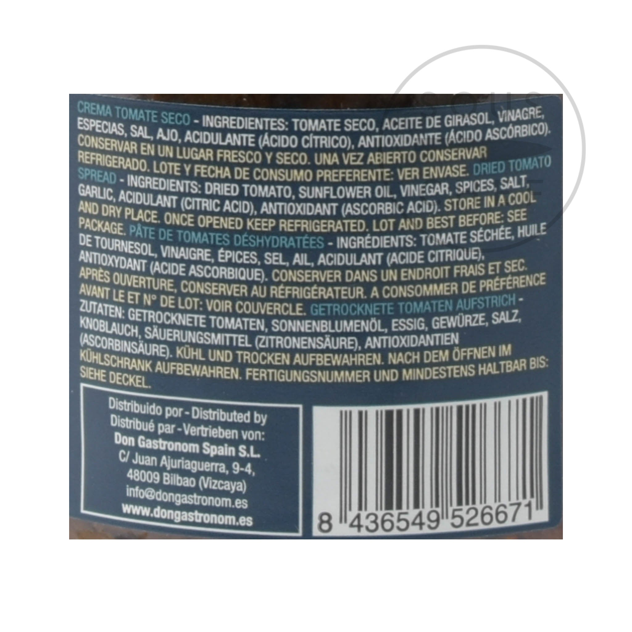 Garden Delights Sundried Tomato Paste 212ml Ingredients Nutritional Information