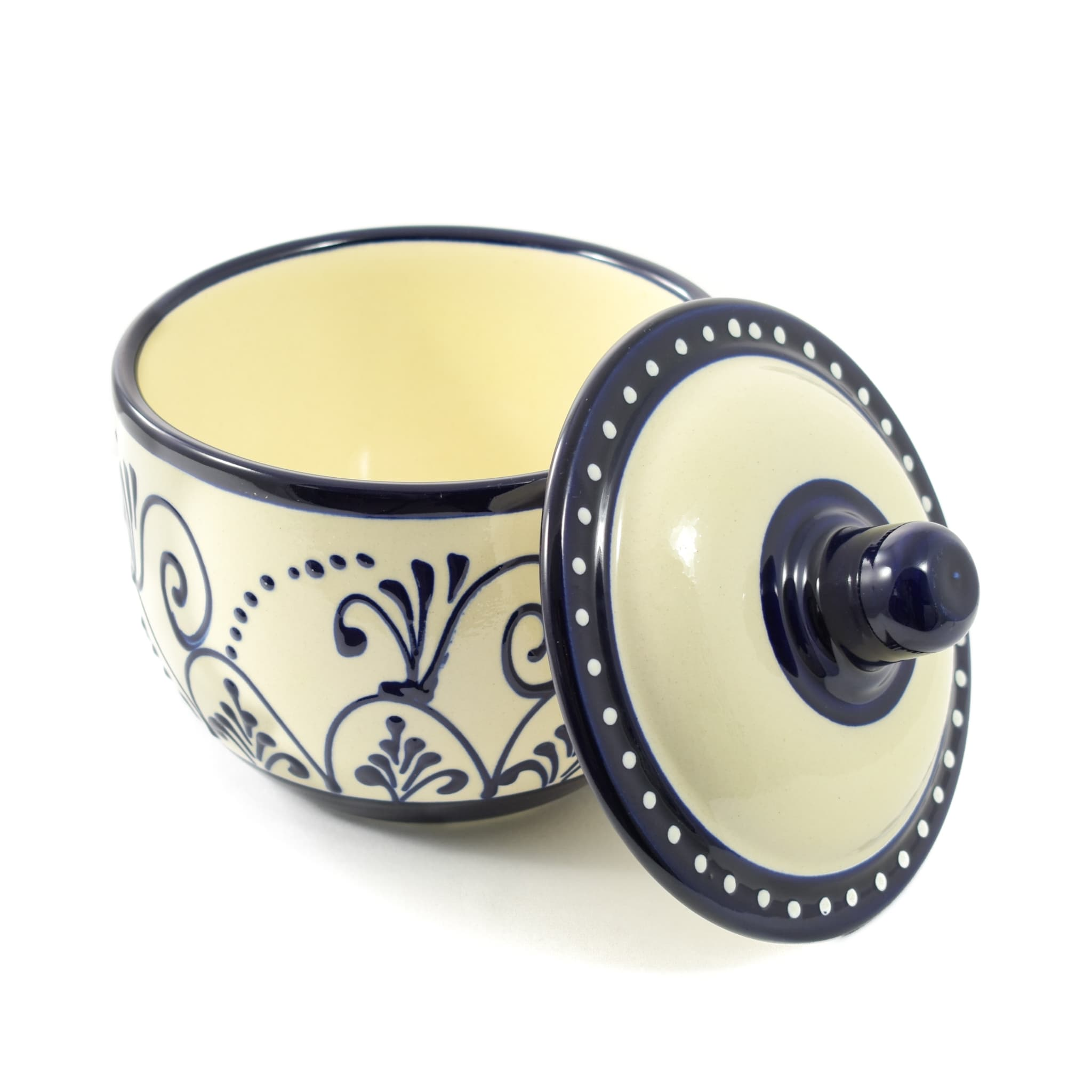 Sous Chef Andalucia Salt Cellar Painted Spanish Tableware
