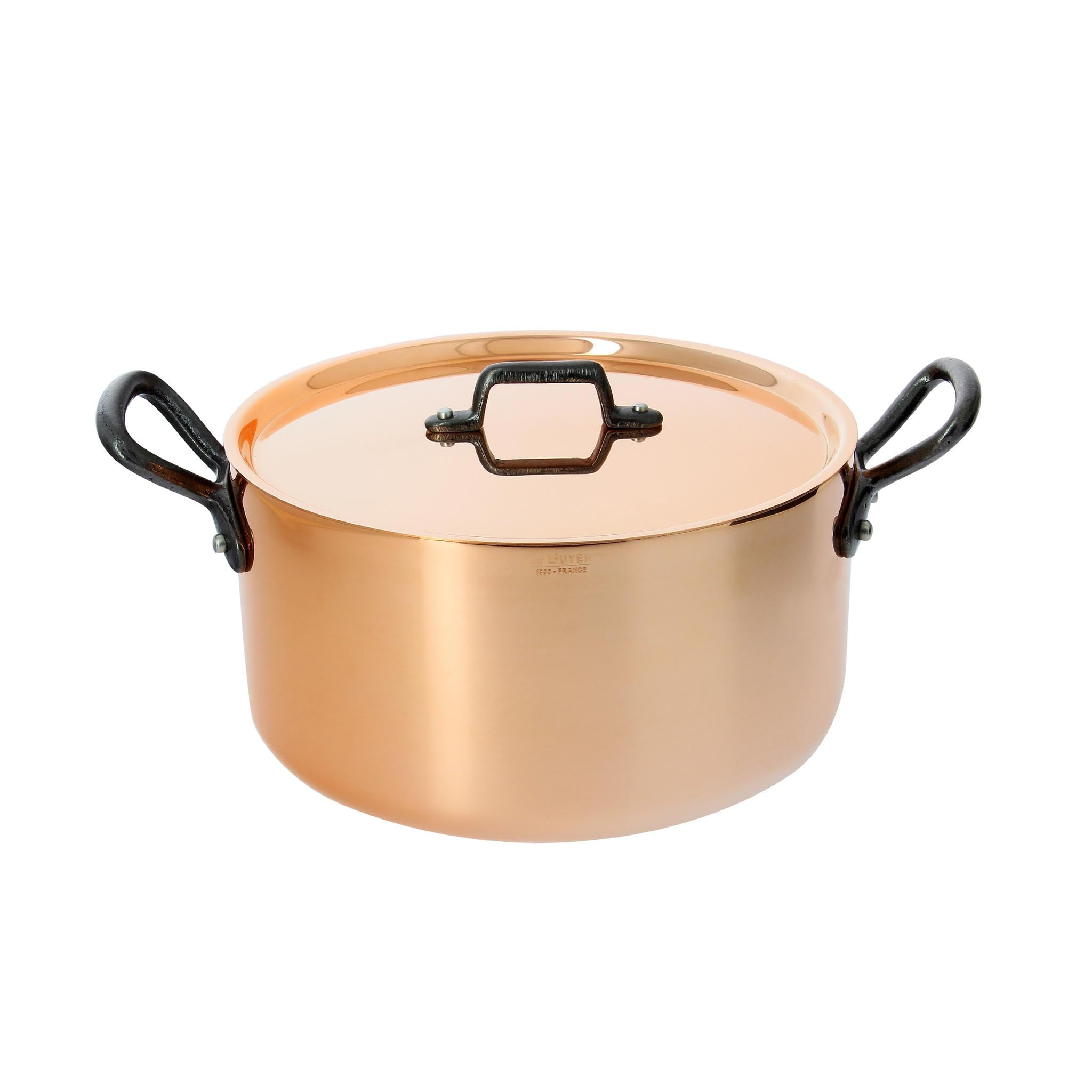 De Buyer Prima Matera Induction Copper Casserole Pan