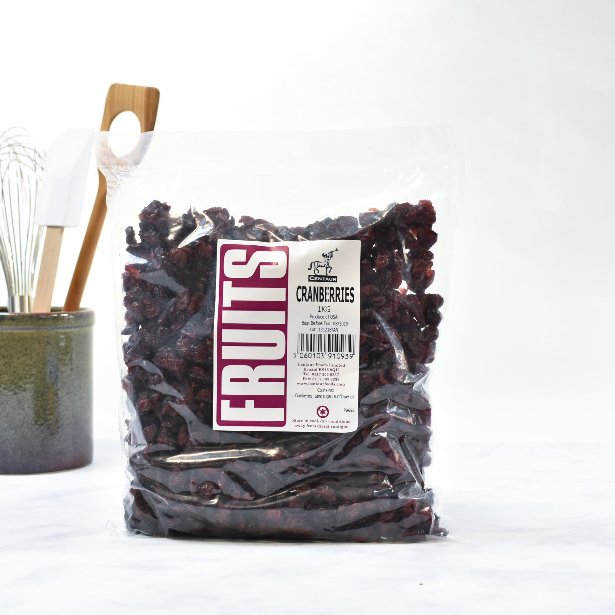 Dried Cranberries 1kg lifestyle photograph