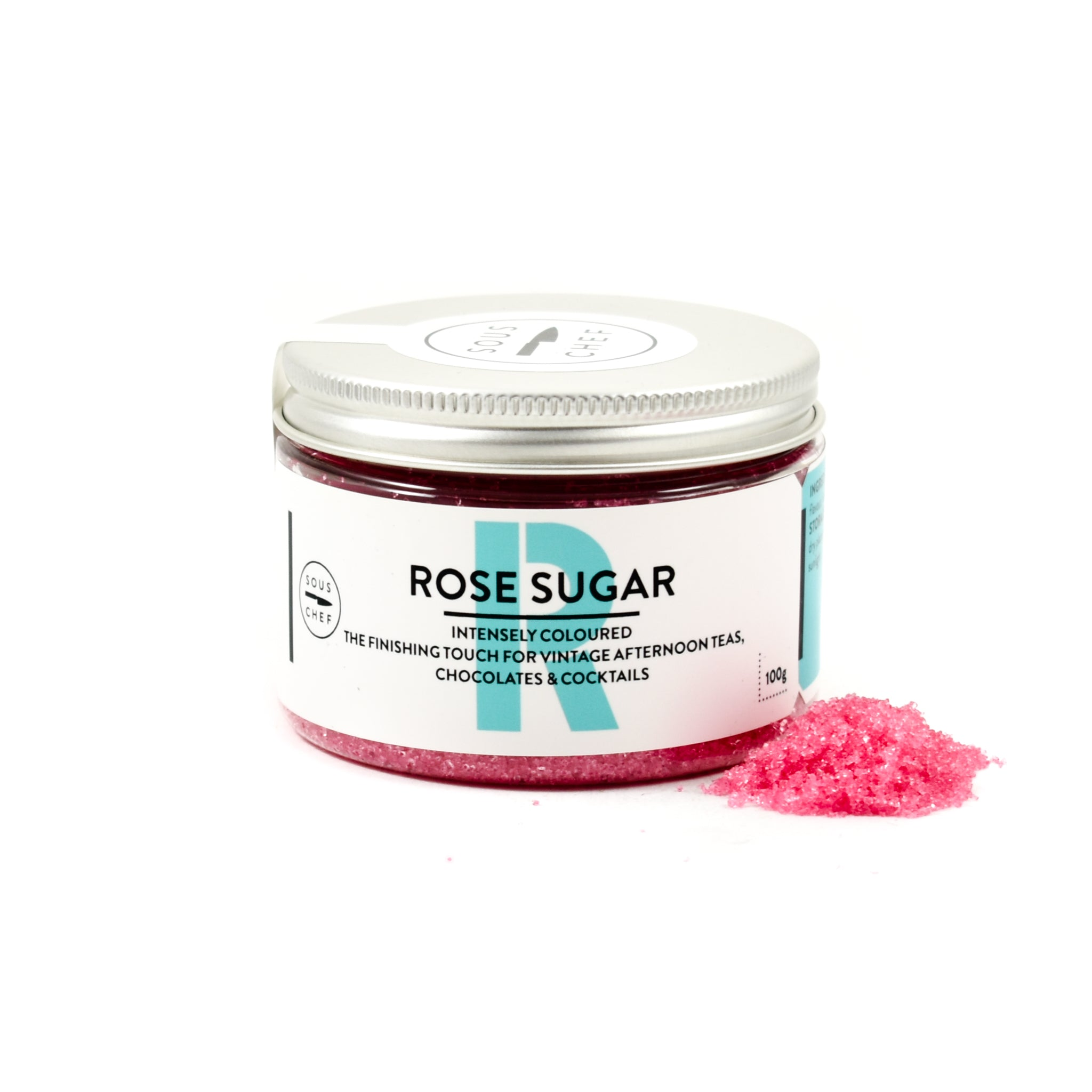 Sous Chef Rose Pink Sugar 100g Ingredients Baking Ingredients Baking Sugar & Decoration French Food