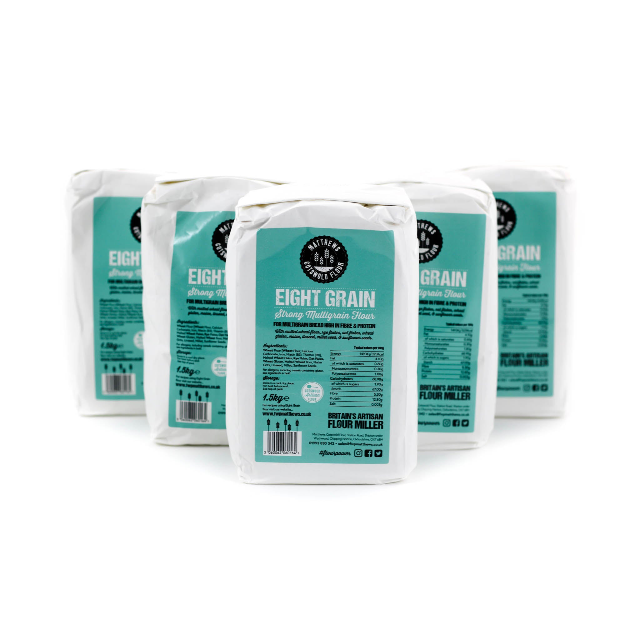 Matthews Cotswold Eight Grain Flour 5x1.5kg