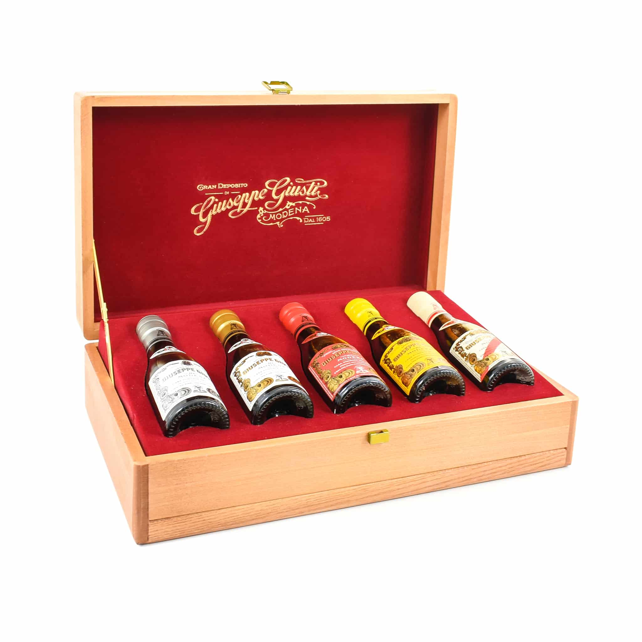 Giuseppe Giusti Balsamic Vinegar Historical Collection in Wooden Casket