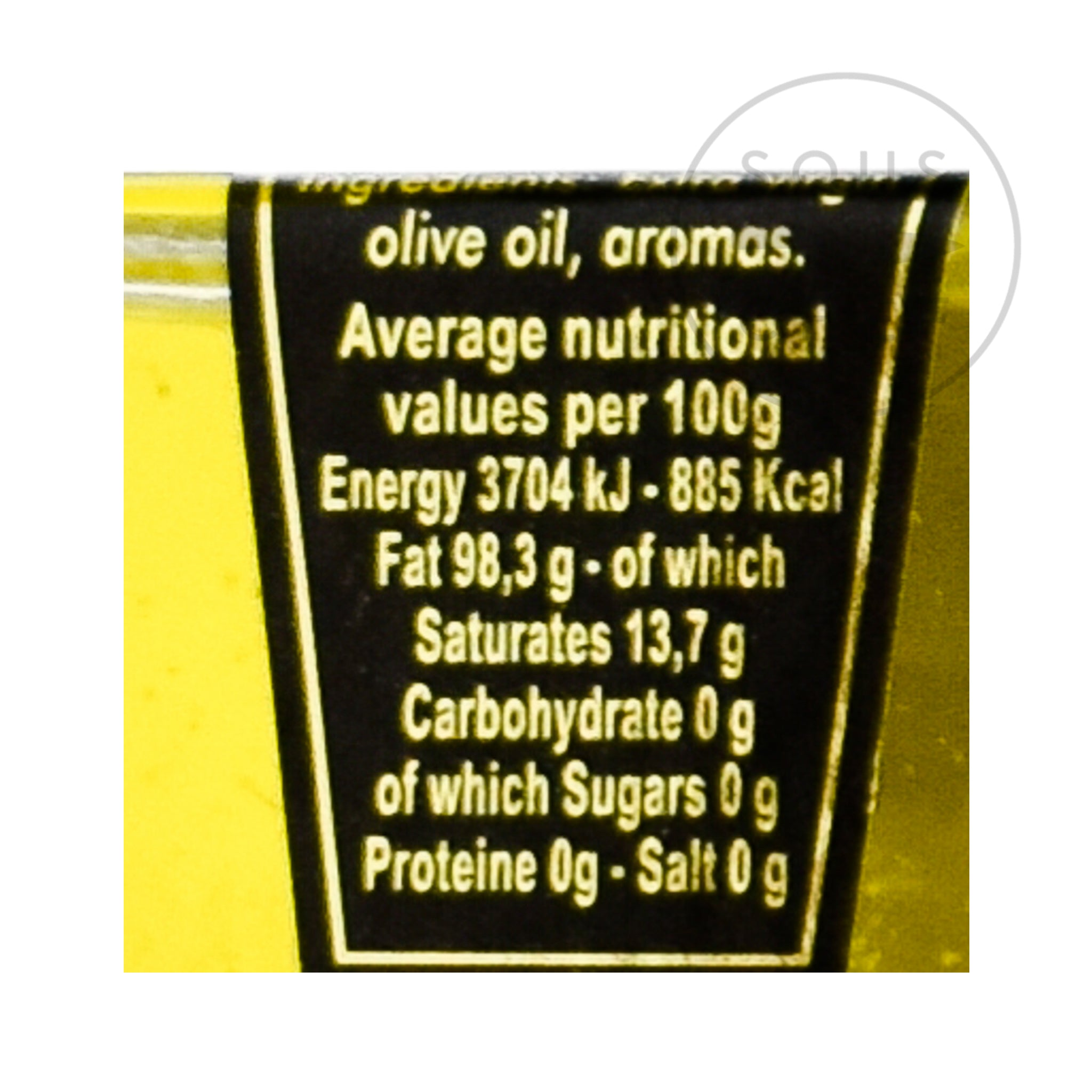Black Truffle Oil 55ml  nutritional information  ingredients