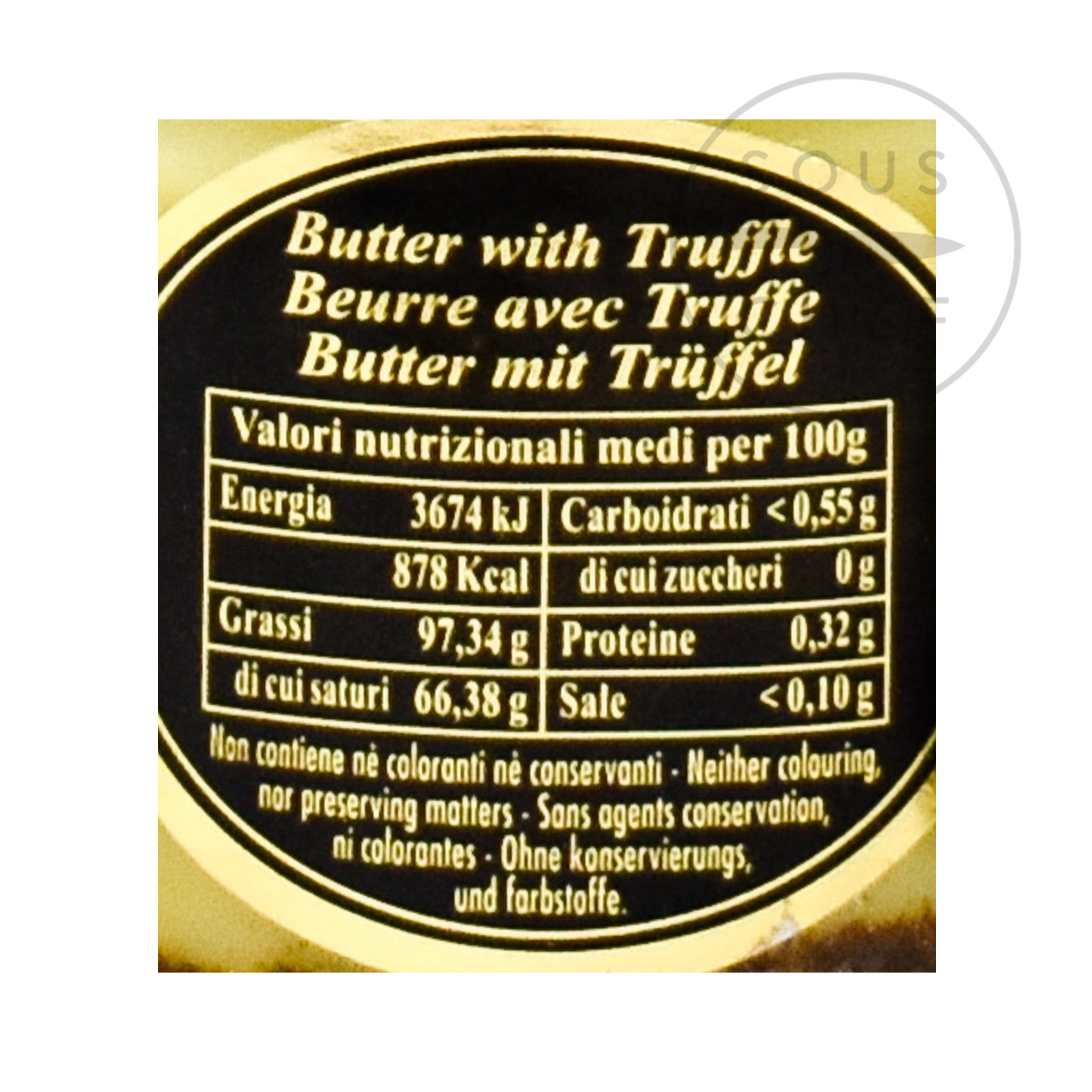 Truffle Butter 80g nutritional information