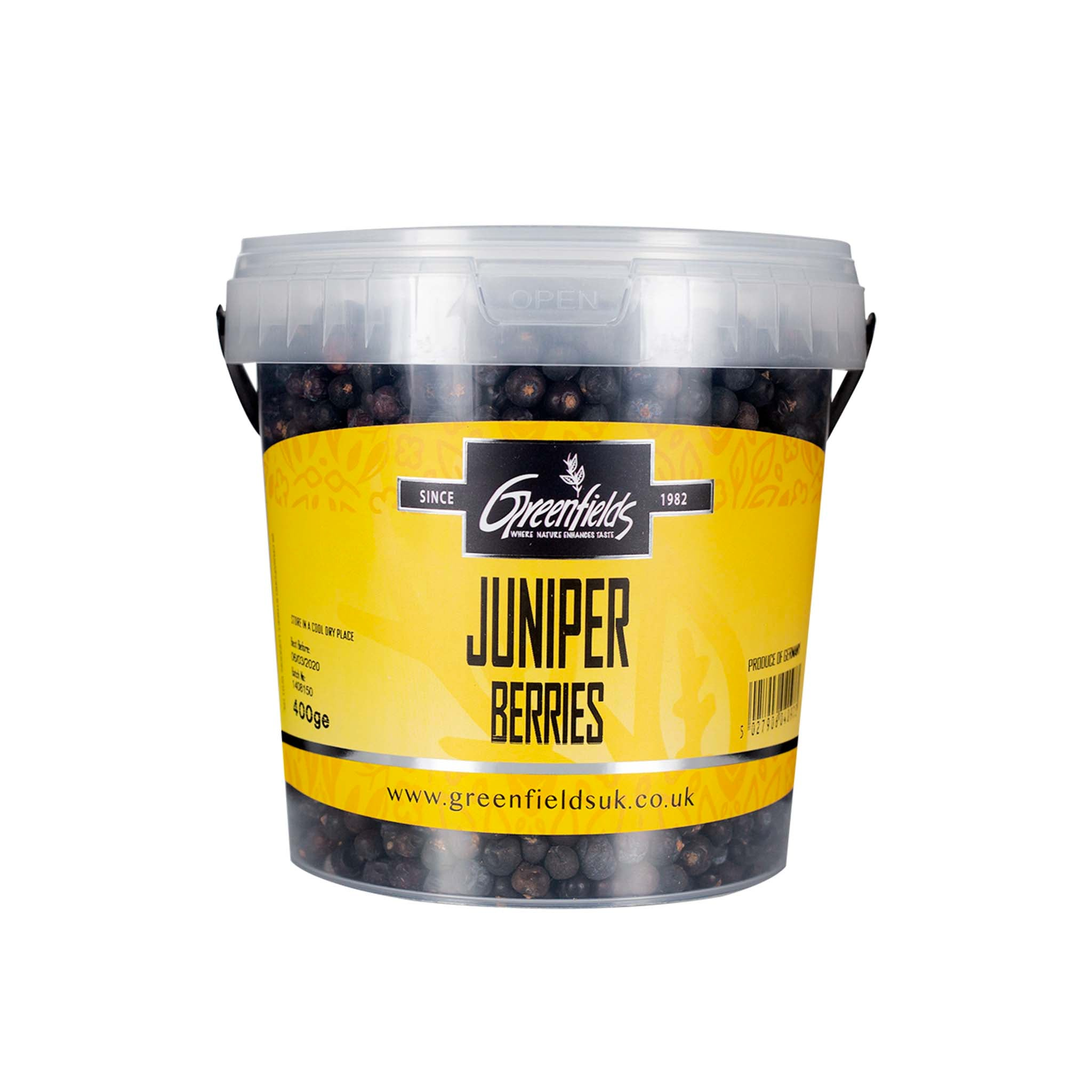 Greenfields Juniper Berries Catering Size Ingredients Herbs & Spices Catering Size Herbs & Spices