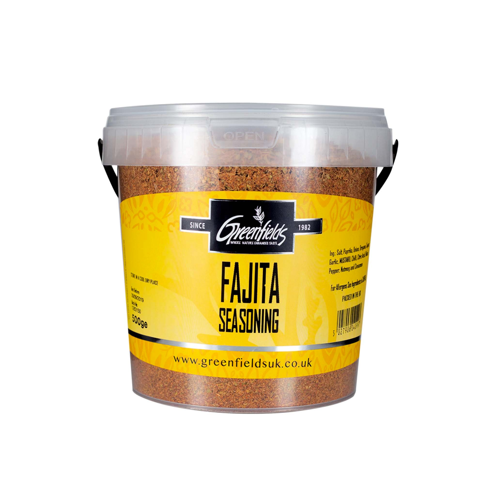 Greenfields Fajita Seasoning Catering Size Ingredients Herbs & Spices Catering Size Herbs & Spices