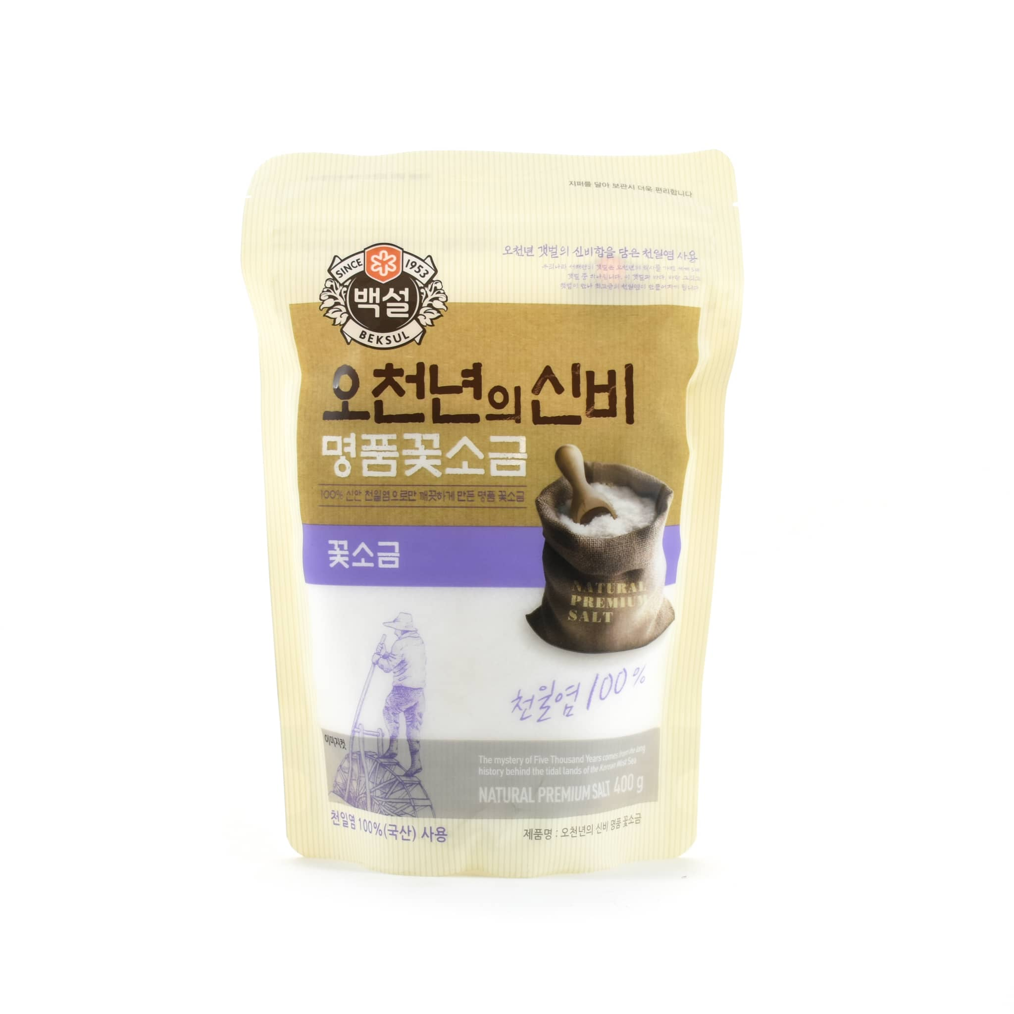 Korean Solar Sea Salt Flakes 400g