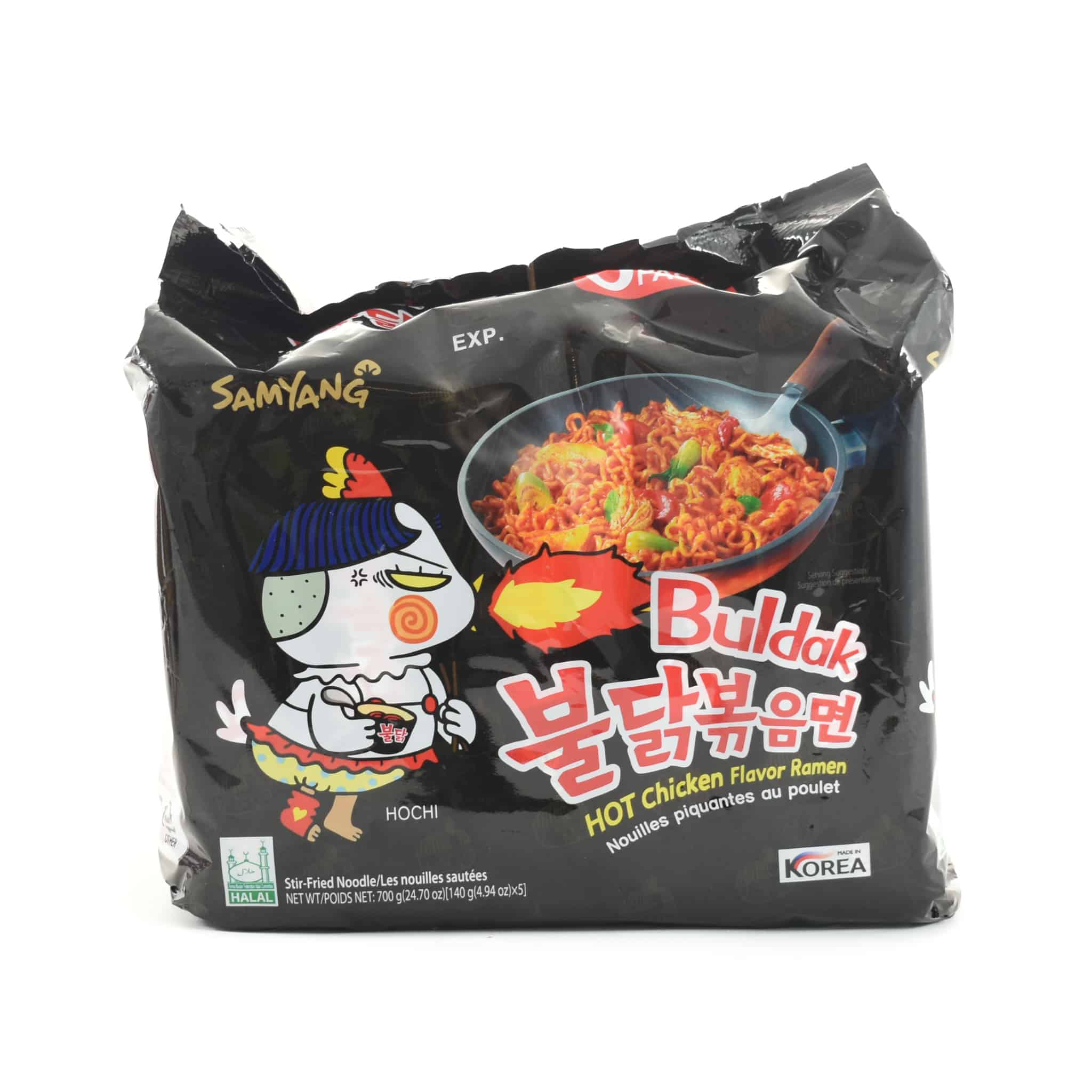 "Samyang Hot Chicken ""Korean Fire Noodles"" 5 x 140g"
