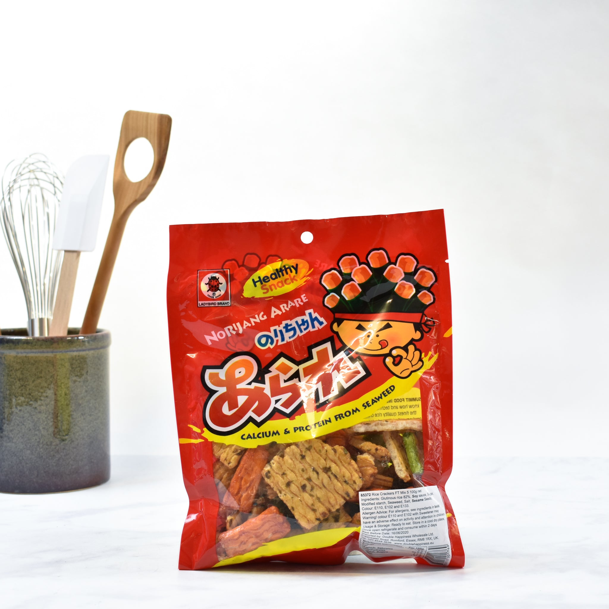 Ladybird Rice Crackers 100g lifestyle photograph