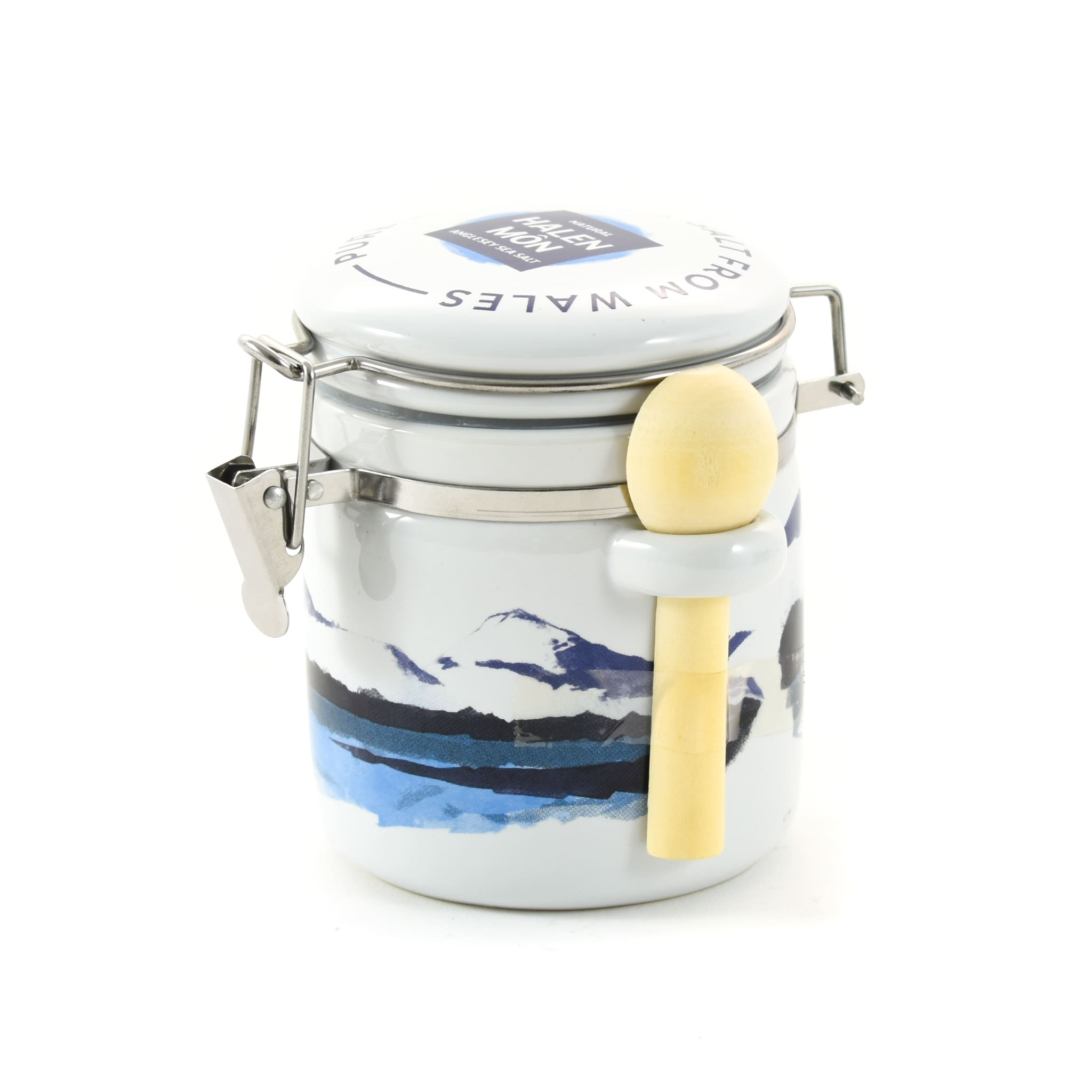 Halen Môn Pure Sea Salt in Watercolour Ceramic Jar 100g