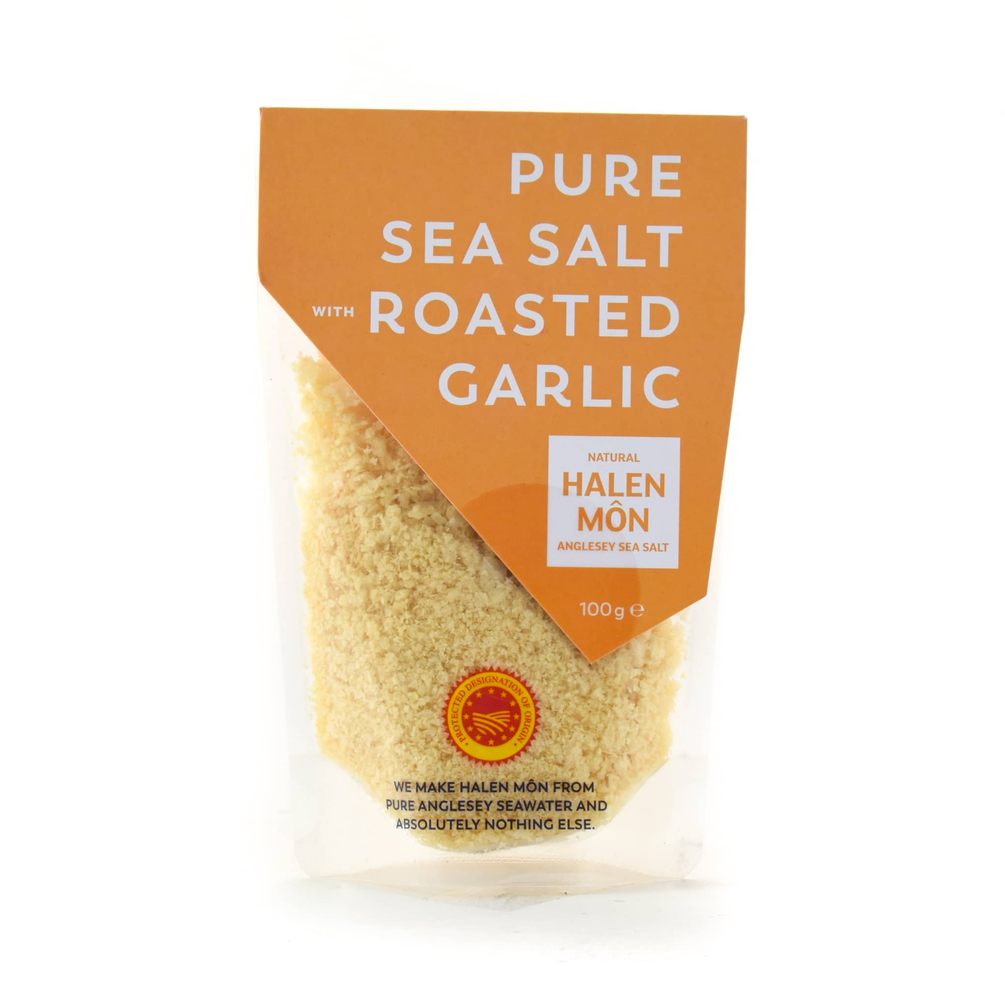 Halen Môn Pure Sea Salt with Roasted Garlic 100g