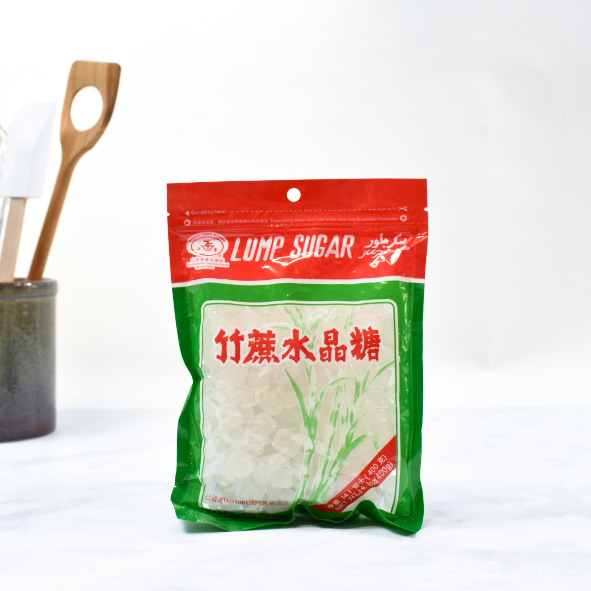 Chinese White Lump Sugar 400g lifestyle photograph