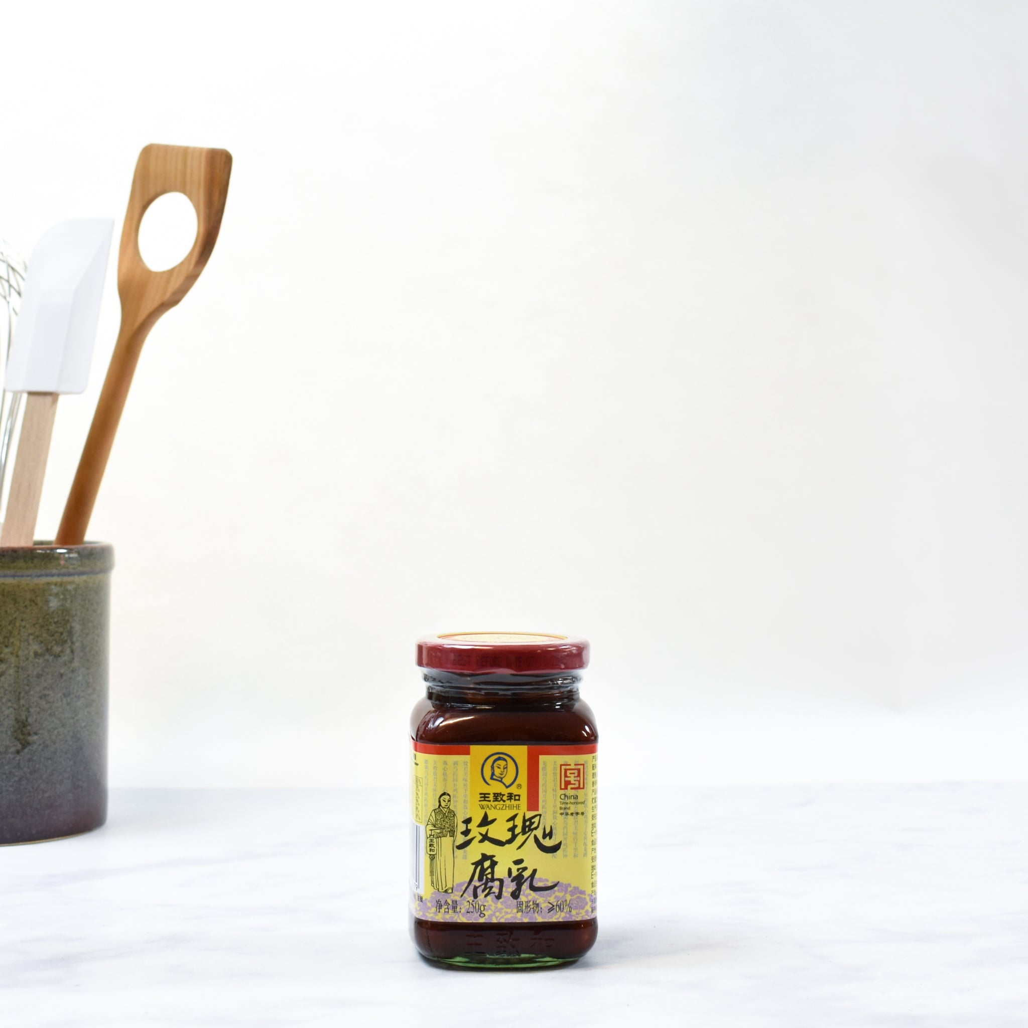 Rose Bean Curd - Preserved Red Beancurd 250g lifestyle photograph
